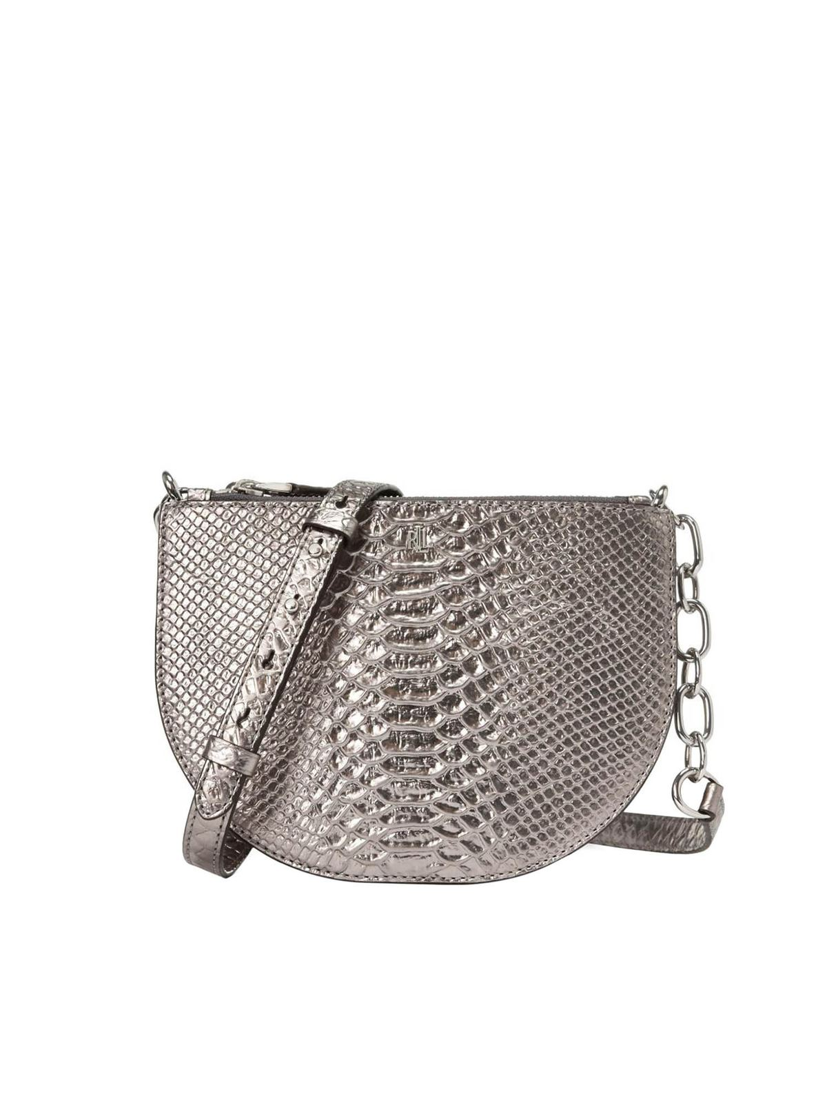 Lauren Ralph Lauren SUTTON 22 BAG IN SILVER COLOR