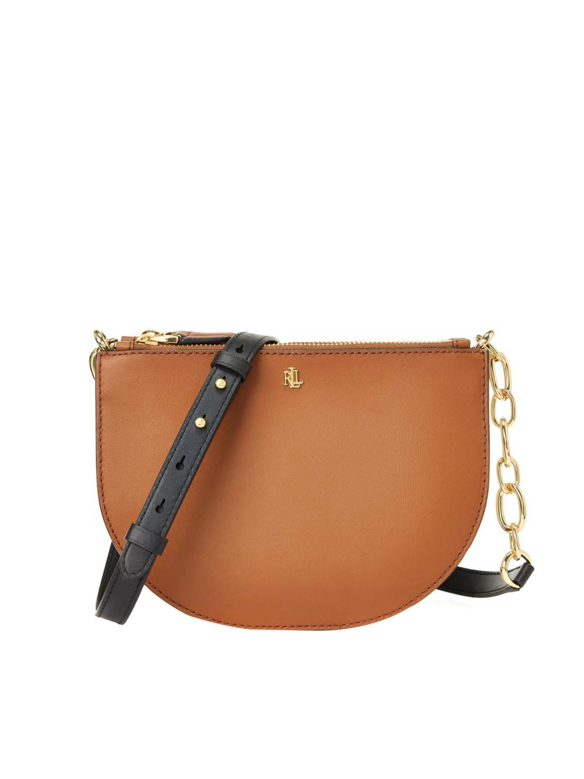 Lauren Ralph Lauren SUTTON 22 SHOULDER BAG IN BROWN
