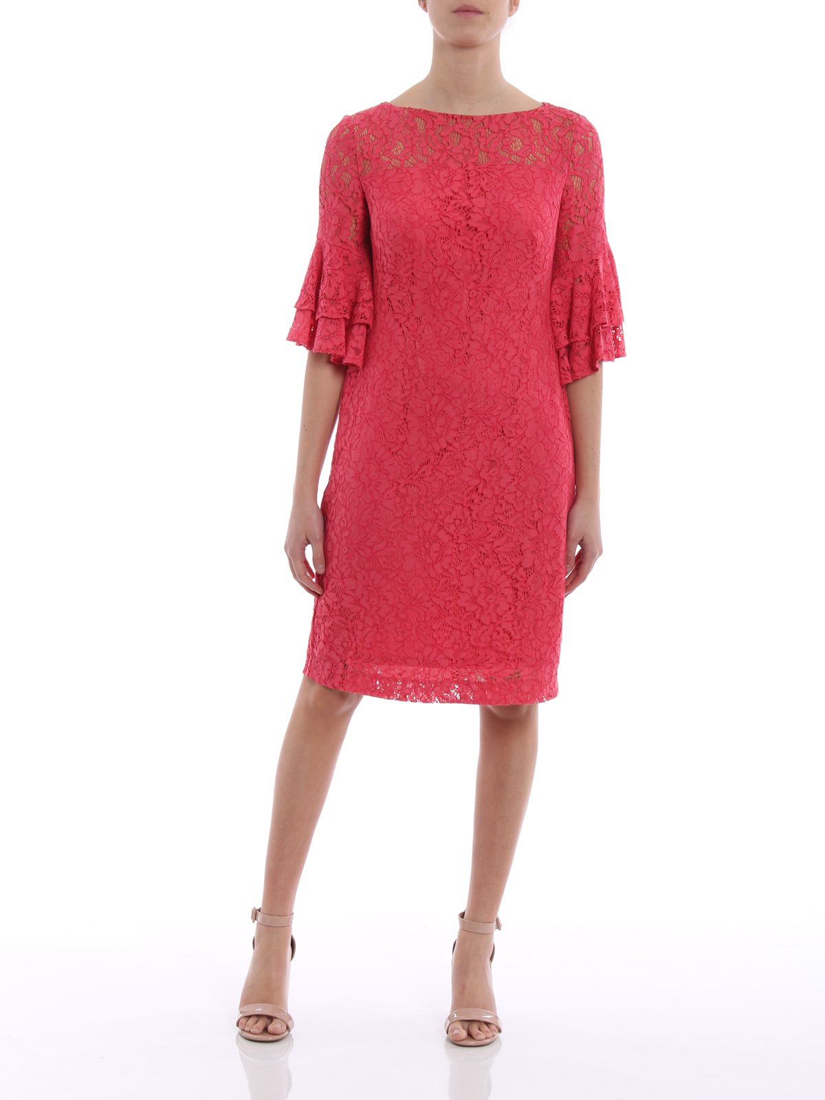 short lace dress - Pink & Purple Lauren Ralph Lauren SvT84h32