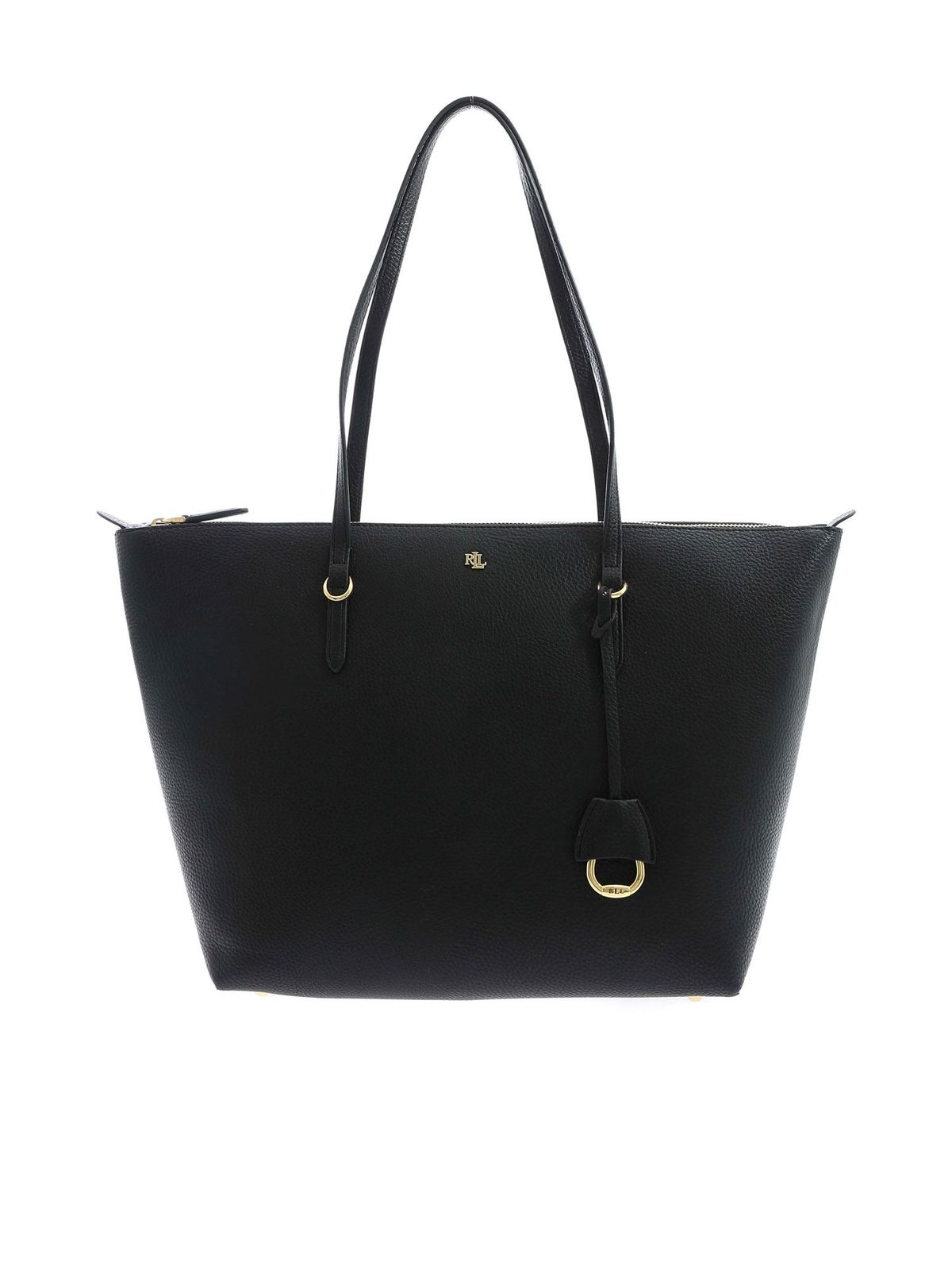 Lauren Ralph Lauren GOLDEN LOGO SHOPPER IN BLACK