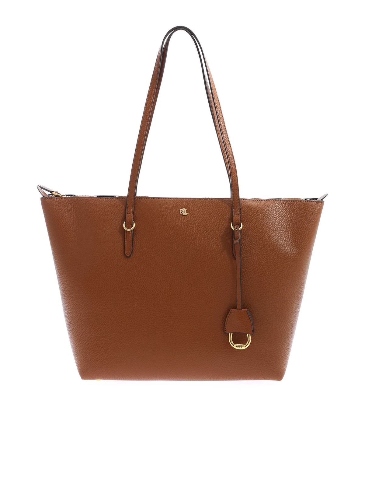 Lauren Ralph Lauren GOLDEN LOGO SHOPPER IN BROWN
