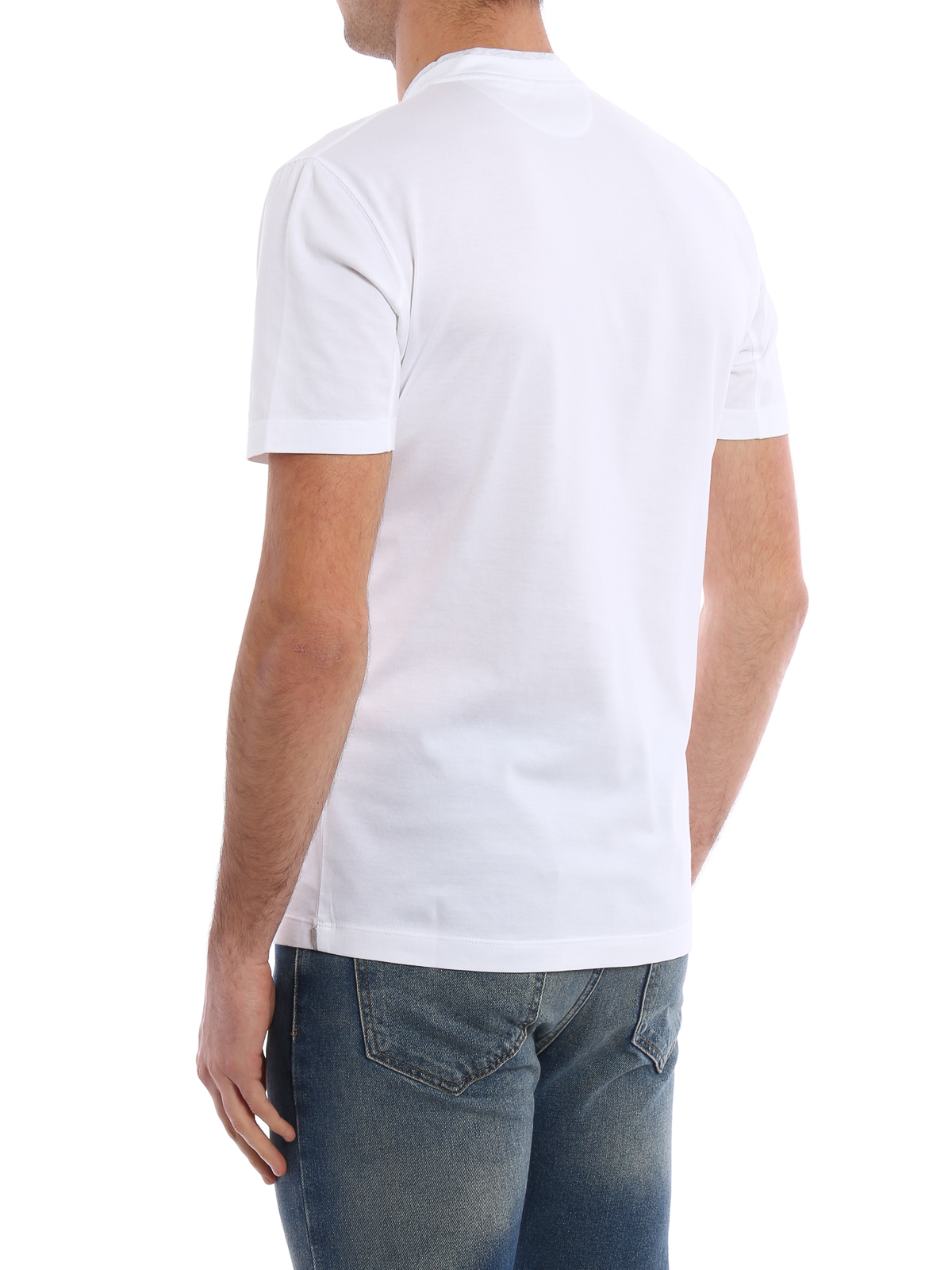 Layered v neck cotton t shirt by brunello cucinelli t for V neck t shirt online shopping
