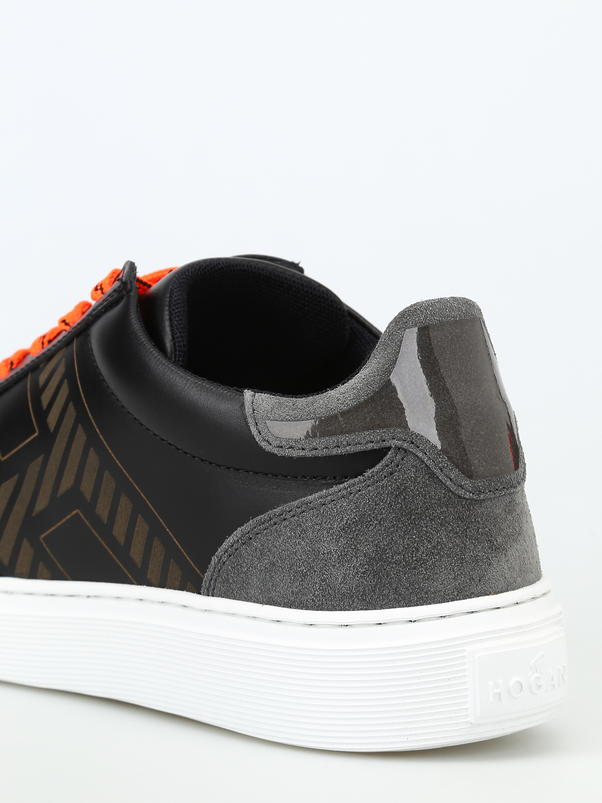 pas mal 0ace7 f1521 Hogan - Leather and suede basket low top sneakers - trainers ...