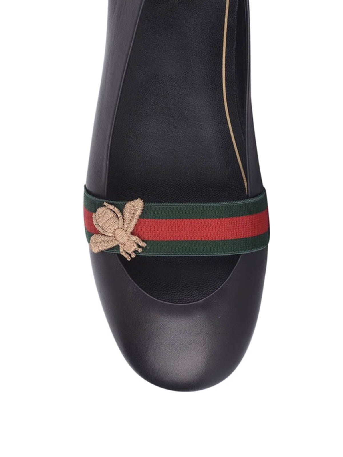 e2758b97c00 Gucci - Leather ballerinas with bee - flat shoes - 417668 BLQZ0 1071