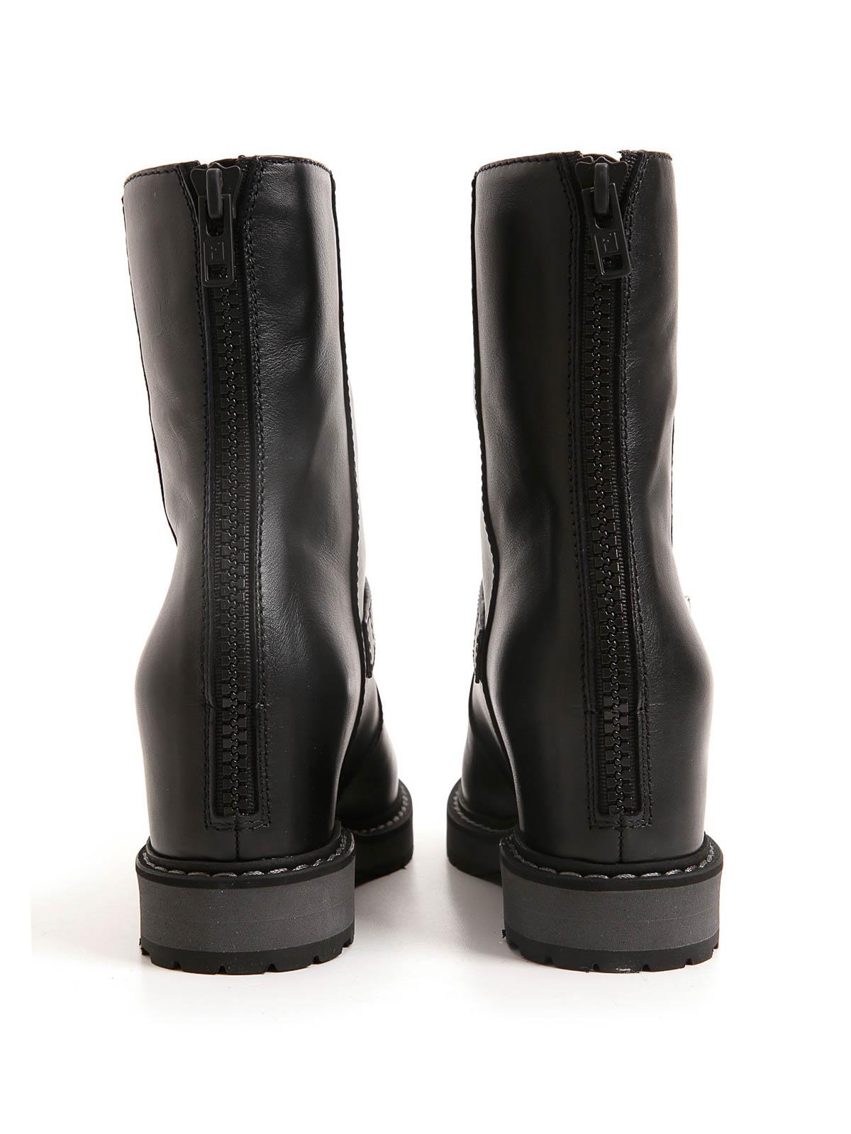 32e5c33f0cc Fendi - Leather biker boots - ankle boots - 8T49743RU QU8 | iKRIX.com