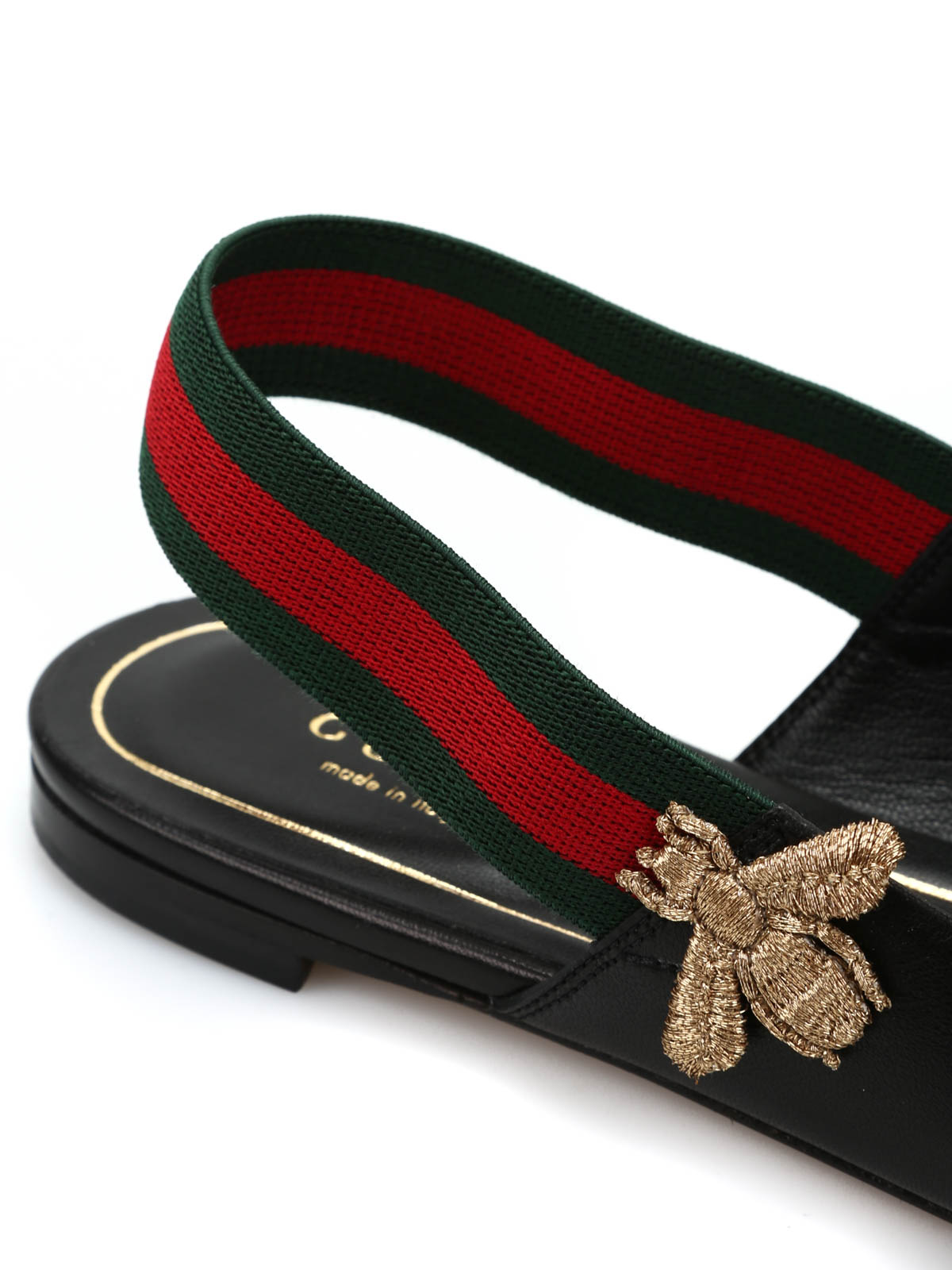 75ee9f5e74b55d Gucci - Leather flats with elastic band - flat shoes - 414975 BTRF0 1060