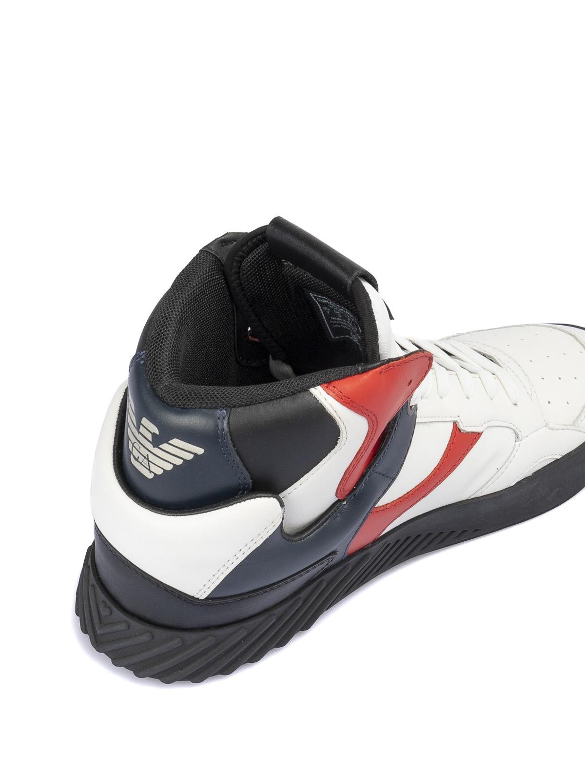 emporio armani high top trainers