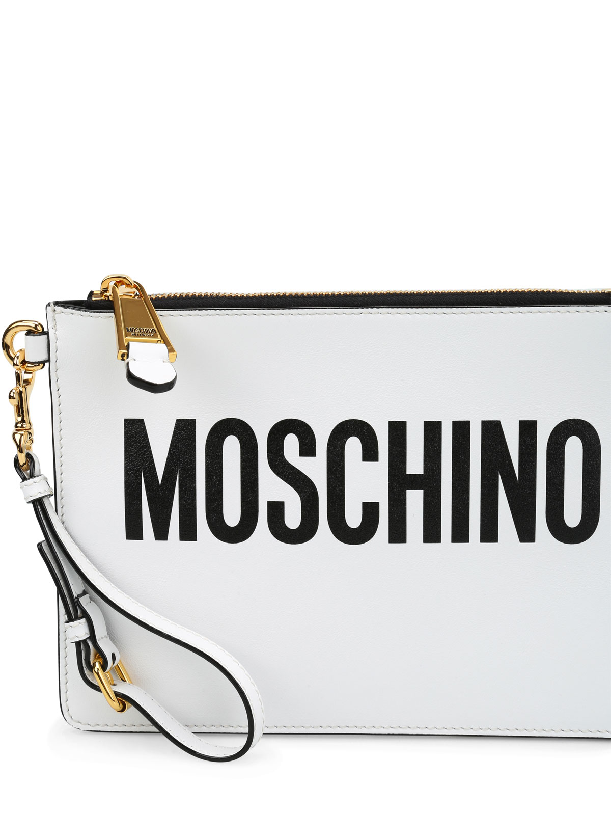 Moschino Leather logo minimal pouch