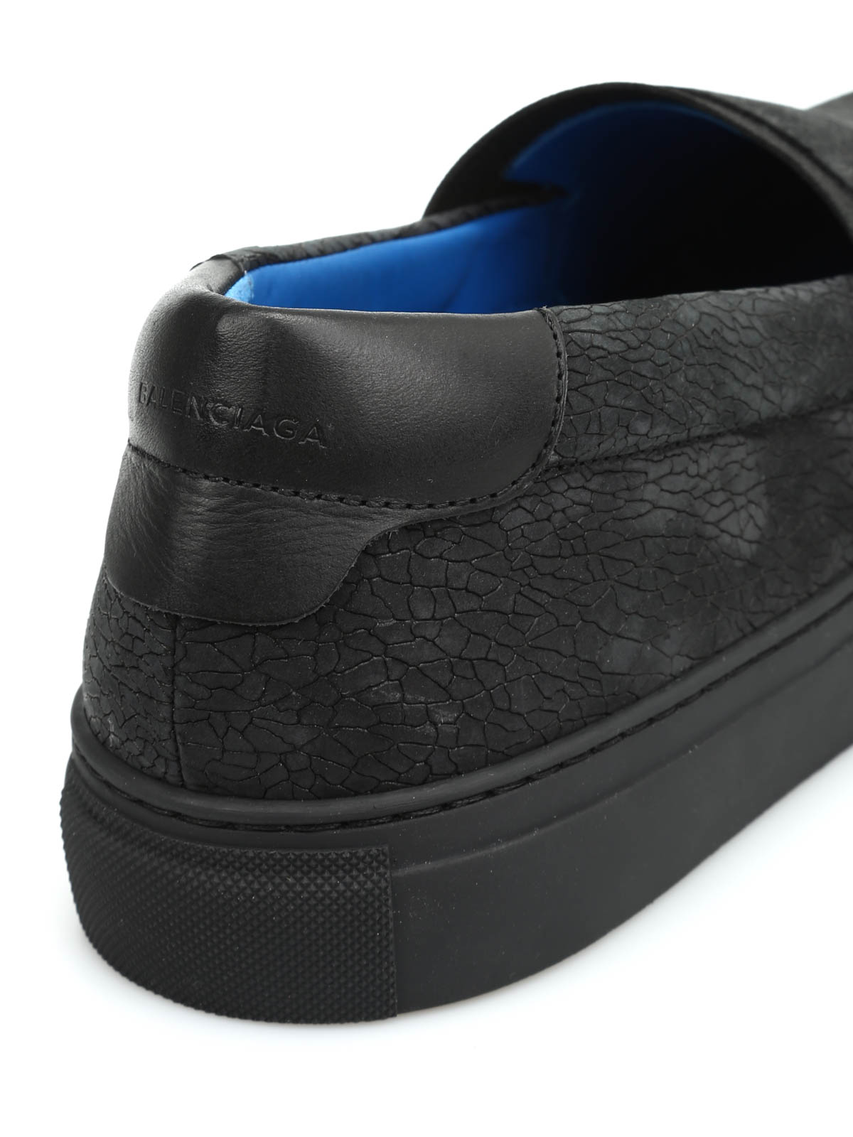 Balenciaga - Leather slip-on - Loafers   Slippers - 412353 WAX91 1000 4c7c426d38c0