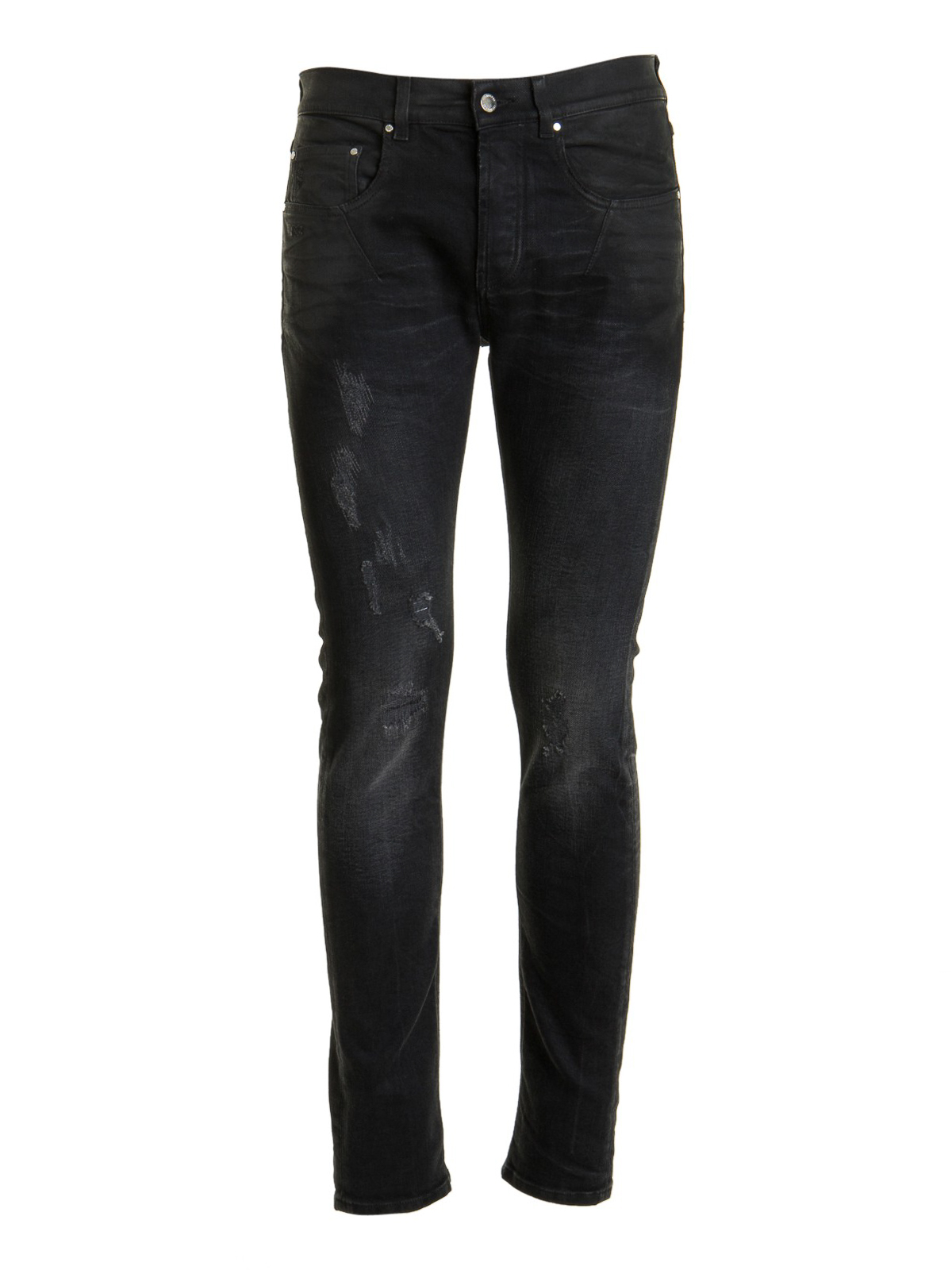 Les Hommes DISTRESSED EFFECT SKINNY JEANS