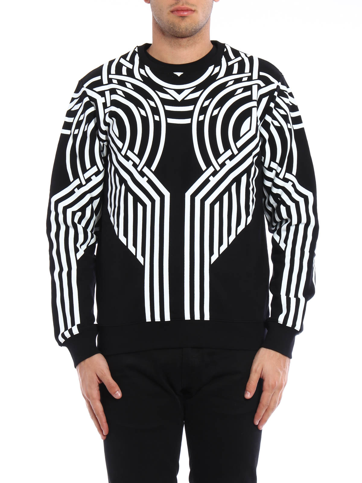 Printed cotton sweatshirt by Les Hommes - Sweatshirts & Sweaters ...