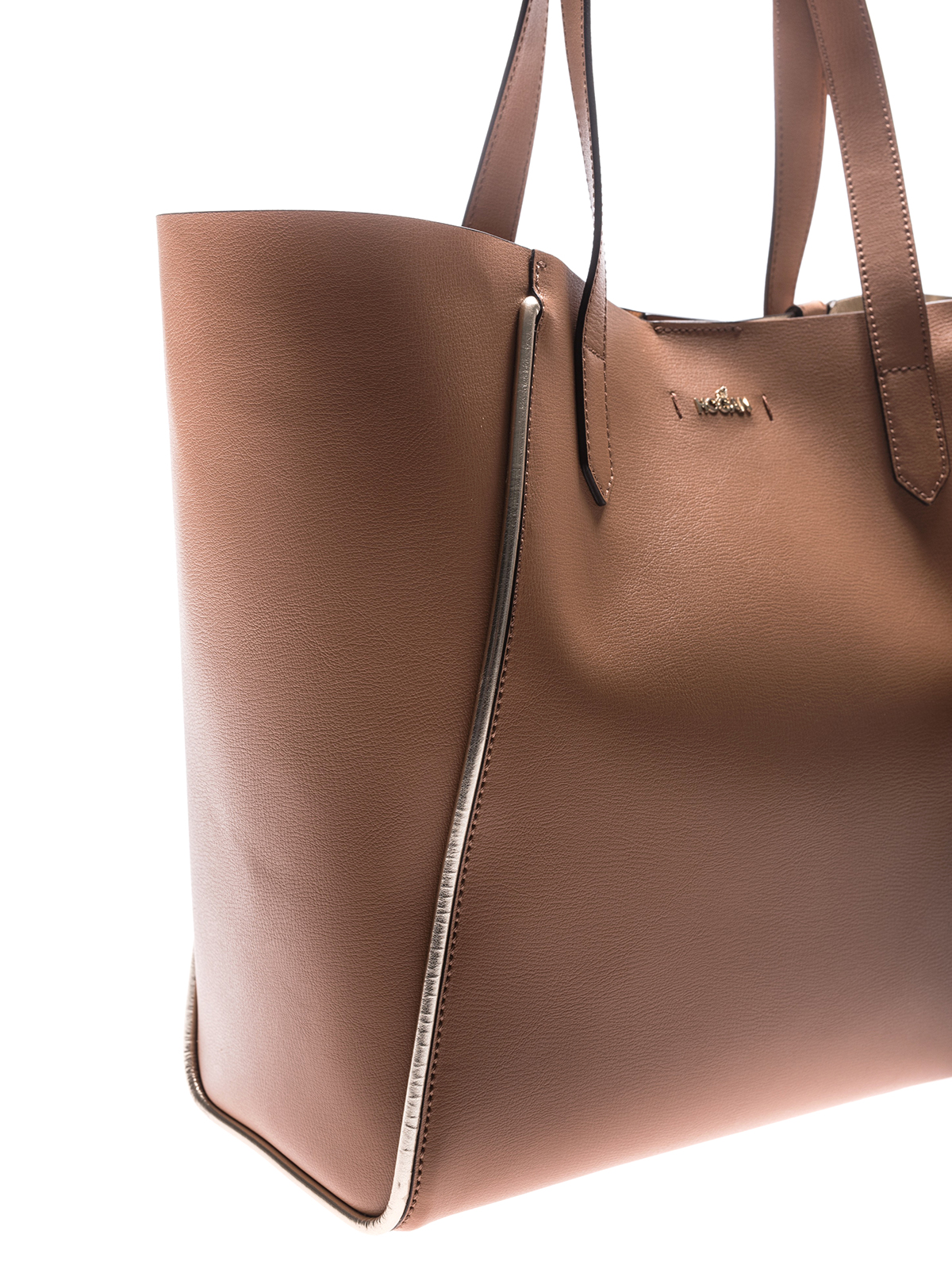Hogan - Light brown leather shopping bag - totes bags ... d76af872fec