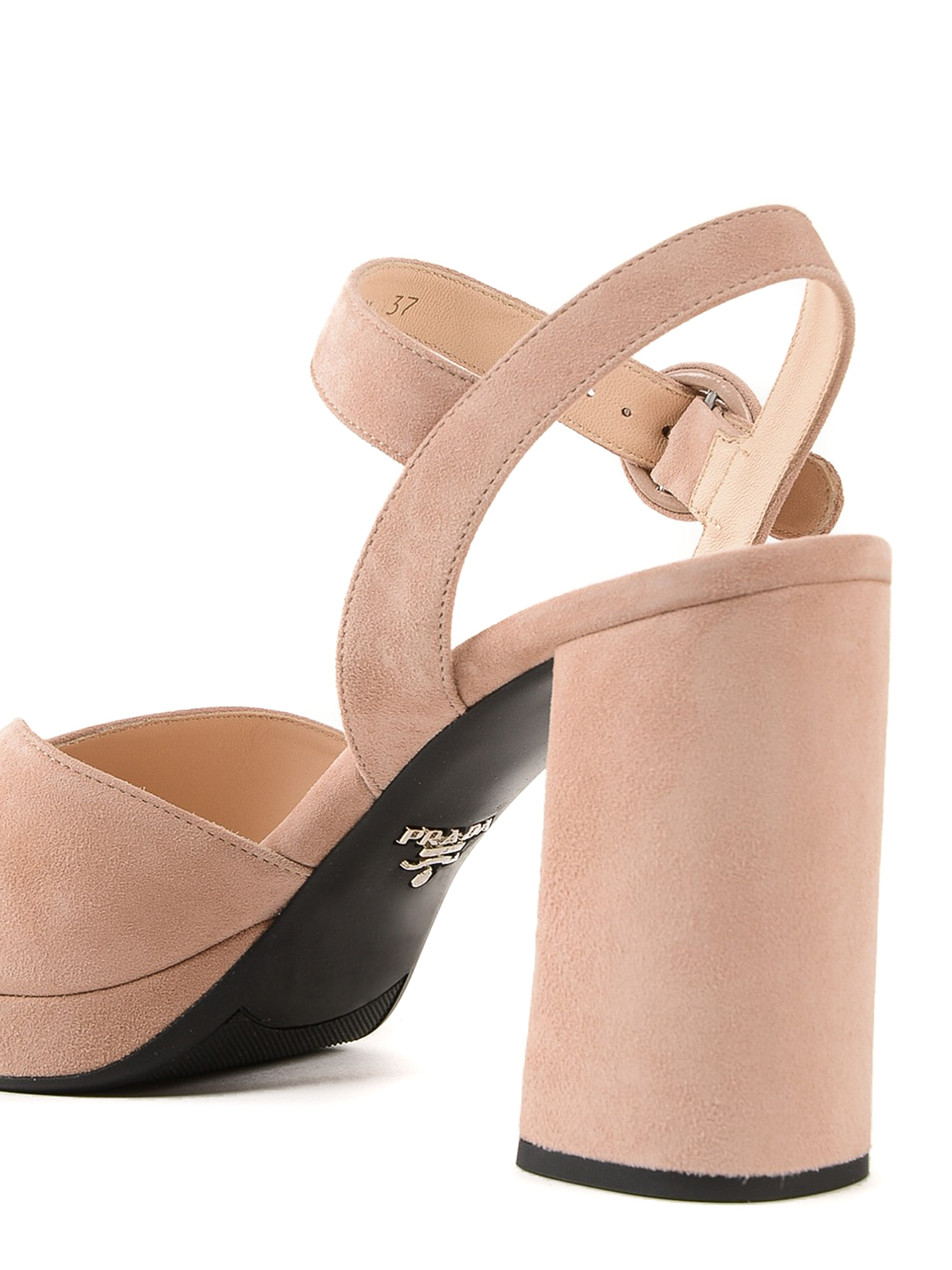 best sneakers new styles good quality Prada - Light pink suede platform sandals - sandals - 1XP36A008 A48