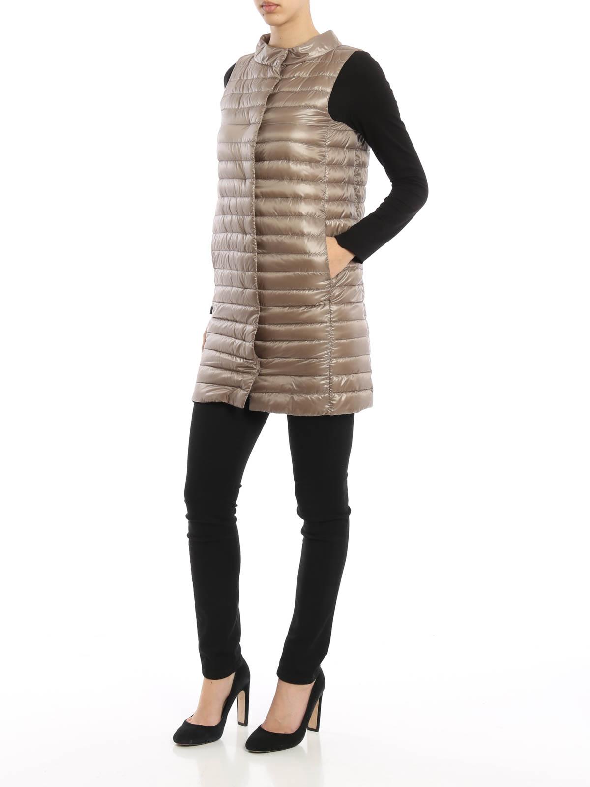 timeless design 8486d 21238 Herno - Piumino leggero smanicato lungo - giacche imbottite ...