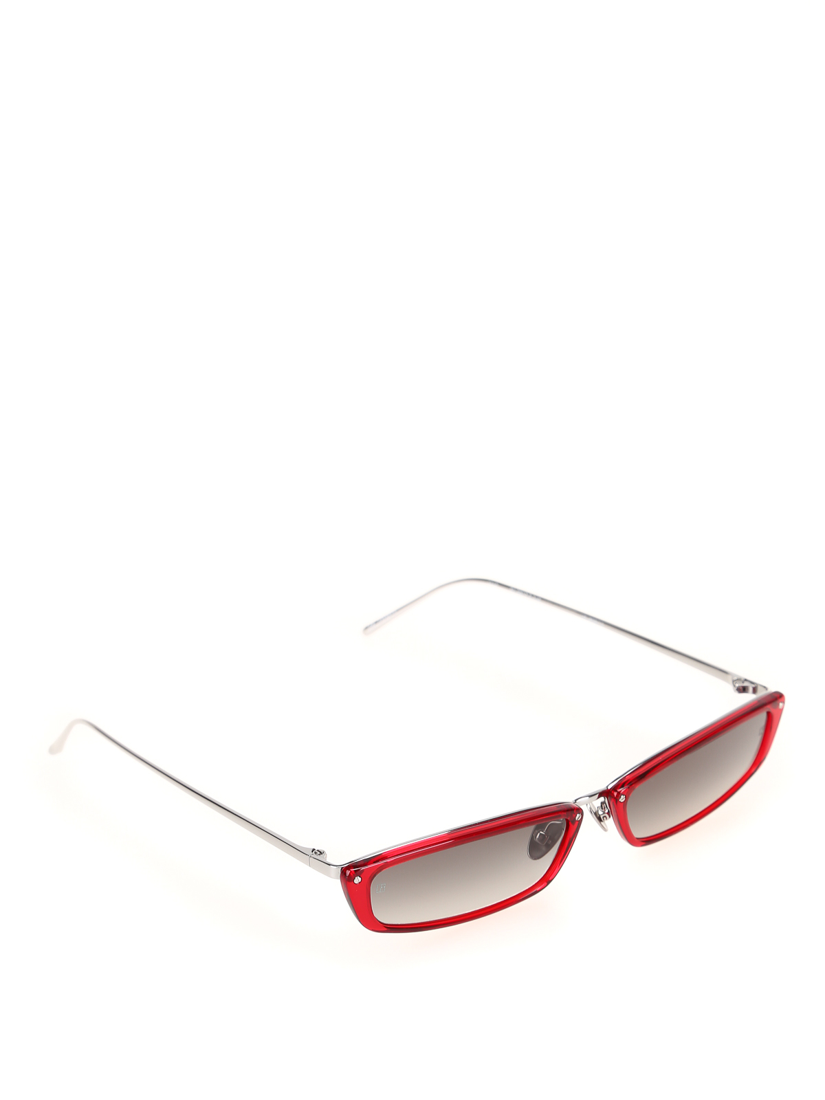 Linda Farrow Red Super Skinny Sunglasses