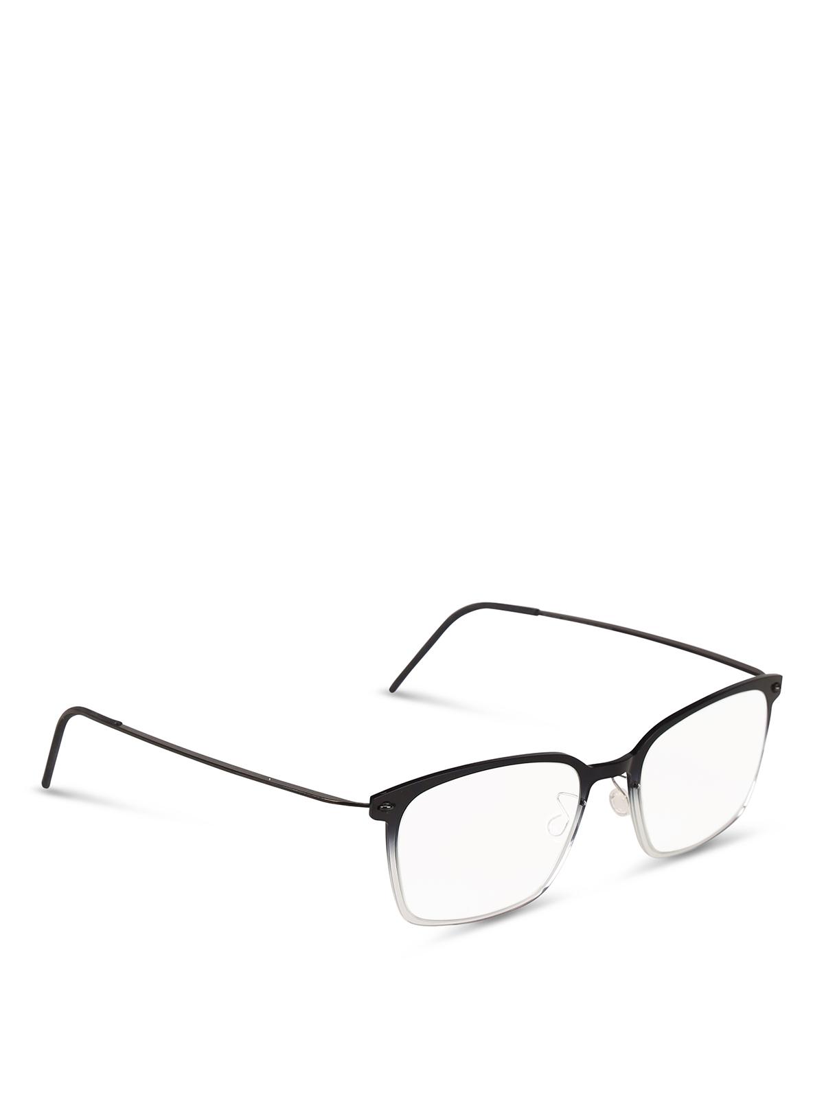 codice promozionale 21a3d 1c37d Lindberg - Occhiale da vista in titanio nero - occhiali ...