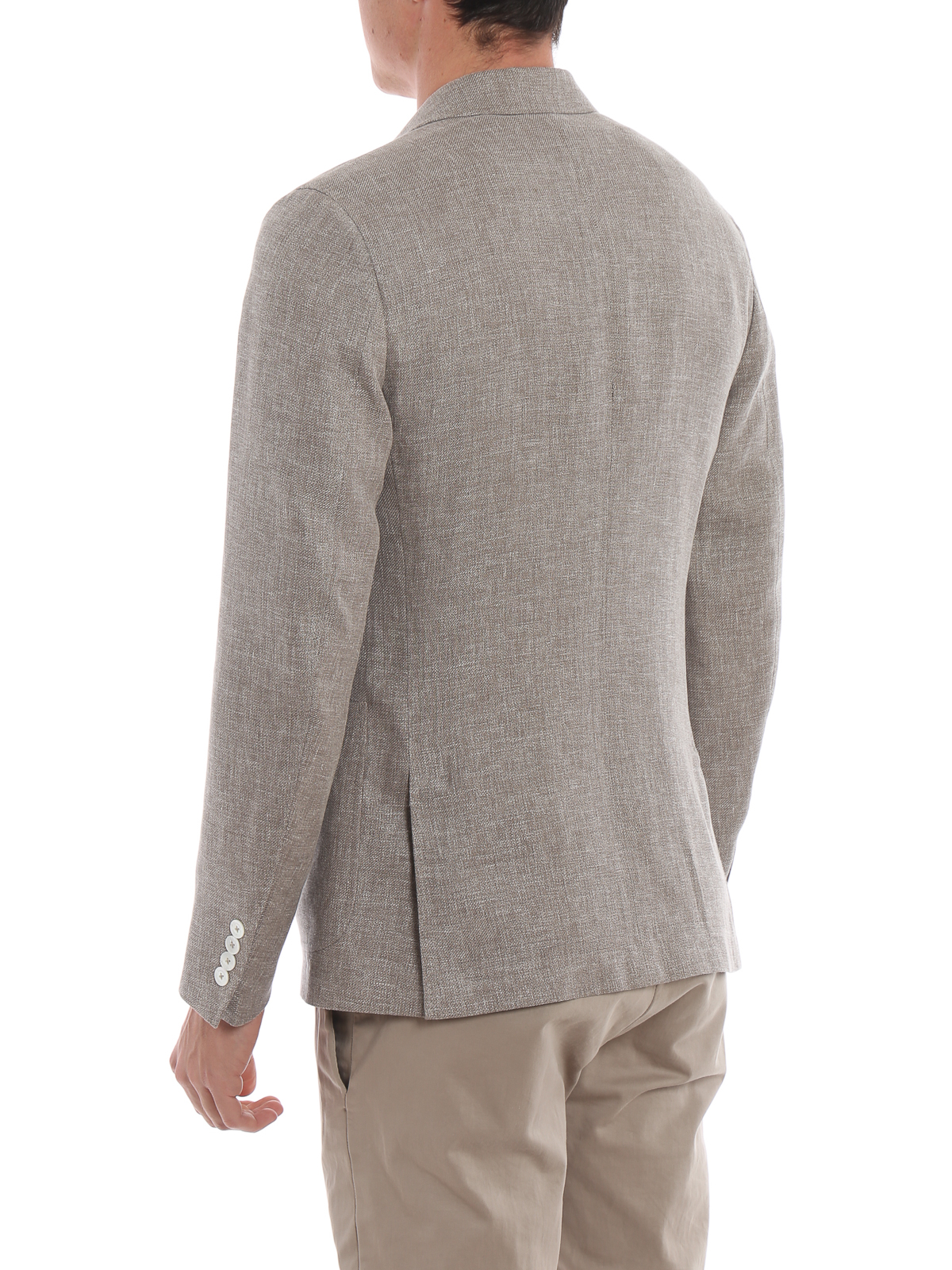 2ffcbd8ffd9b Linen wool and silk unstructured blazer shop online: ERMENEGILDO ZEGNA