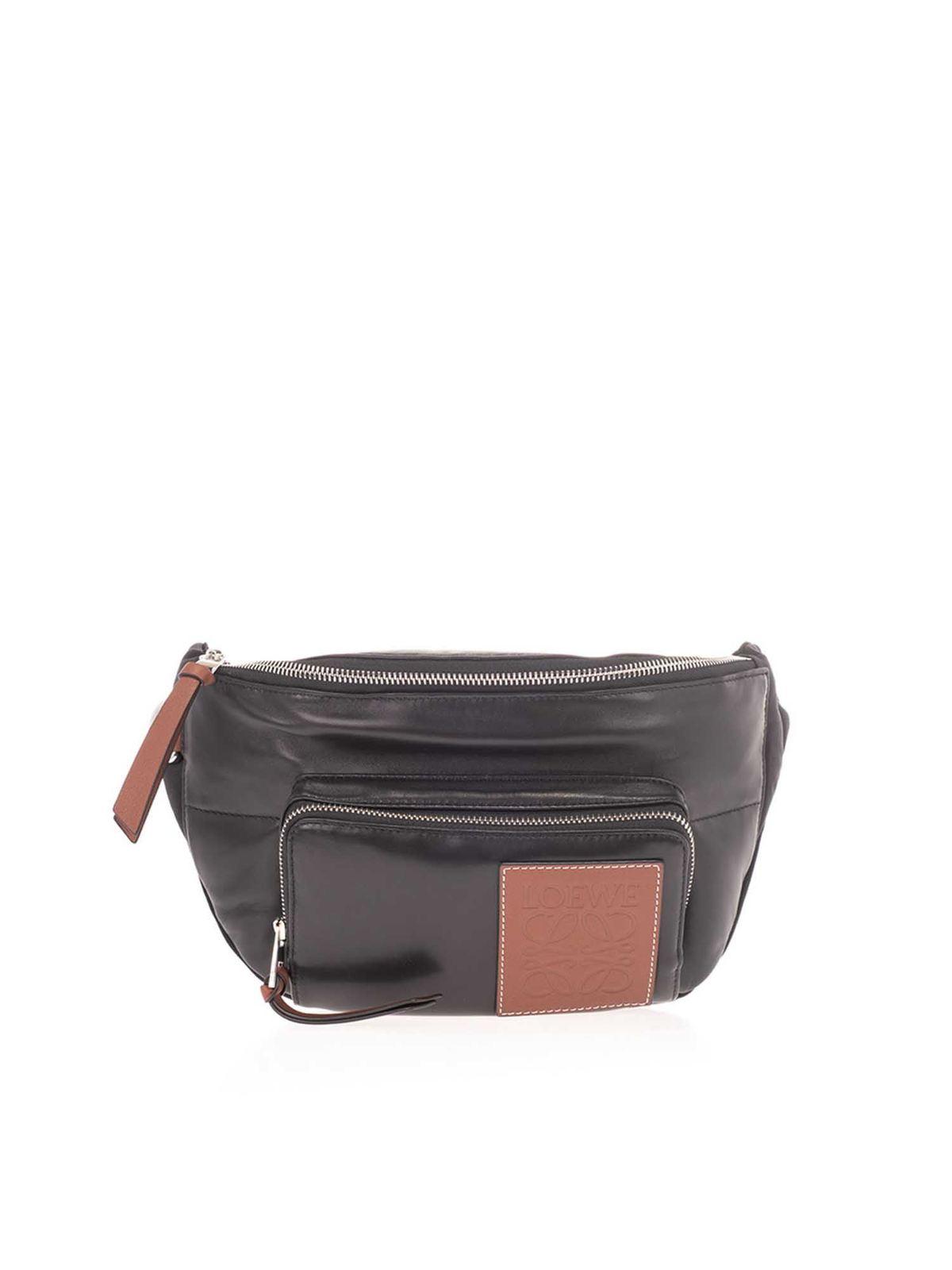 Loewe PUFFY BELT BAG IN BLACK
