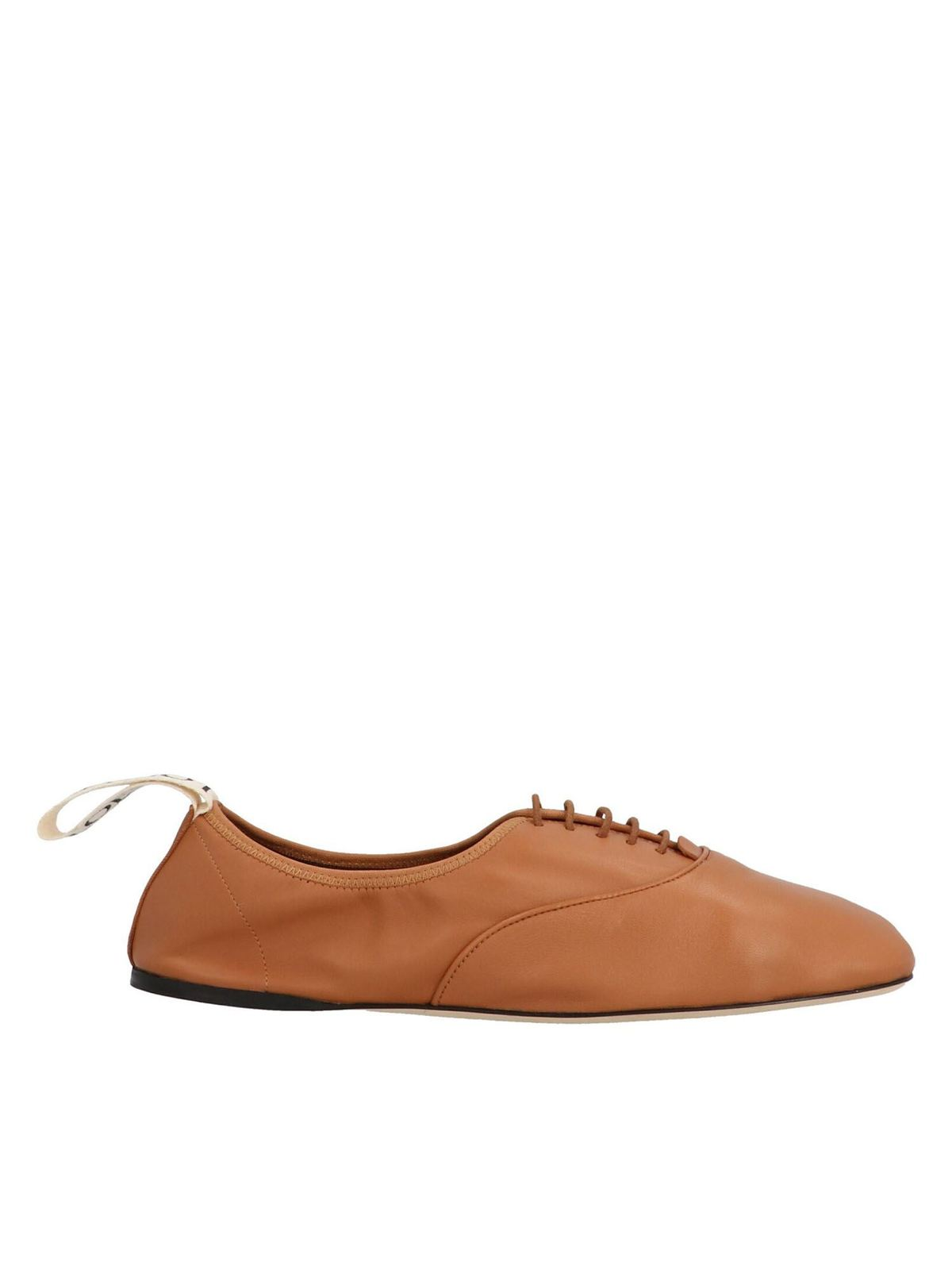 LOEWE SOFT DERBY LACE UP SHOES IN BROWN