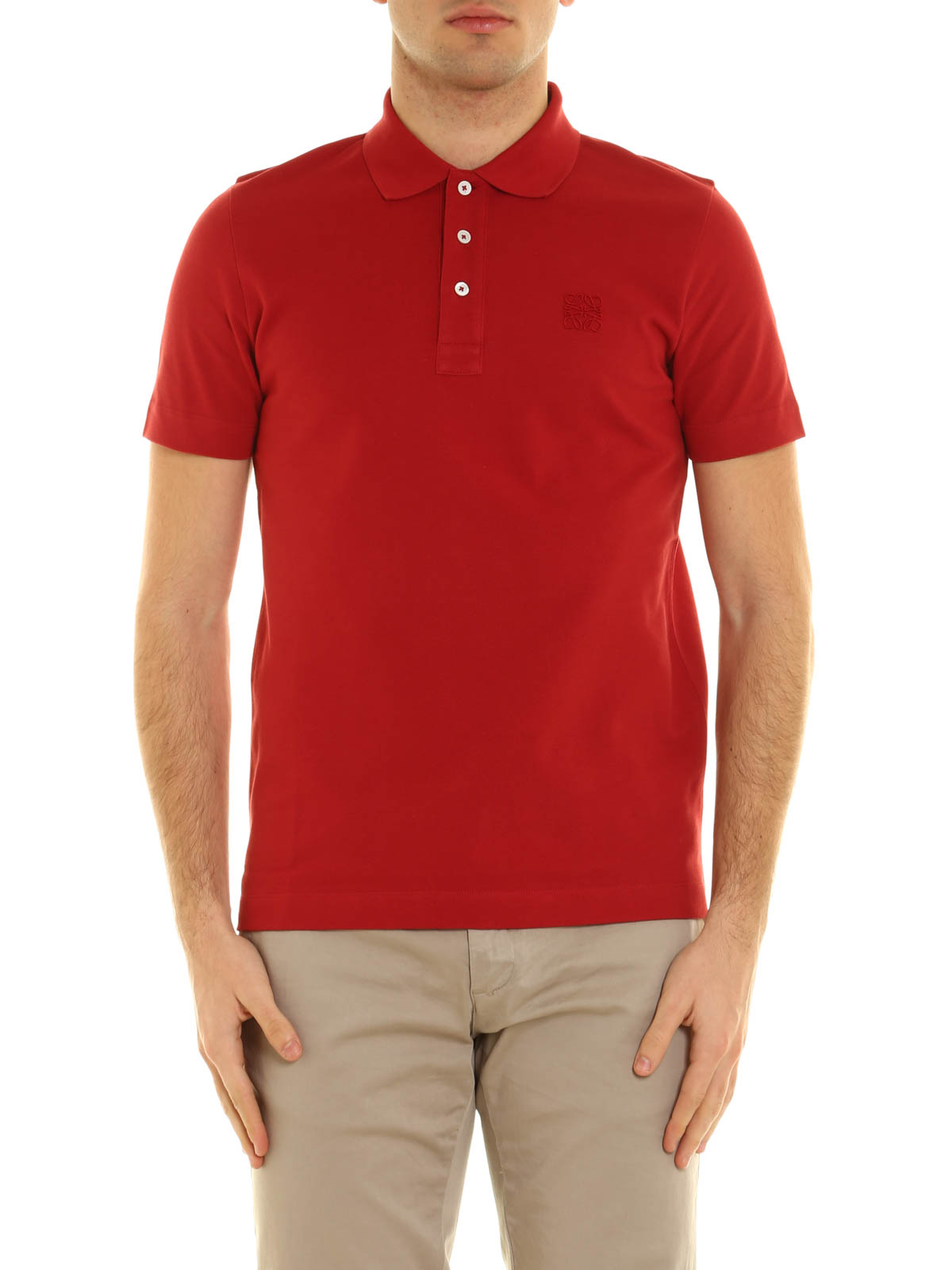Embroidered logo polo shirt by loewe polo shirts ikrix for Embroidered polo shirts online