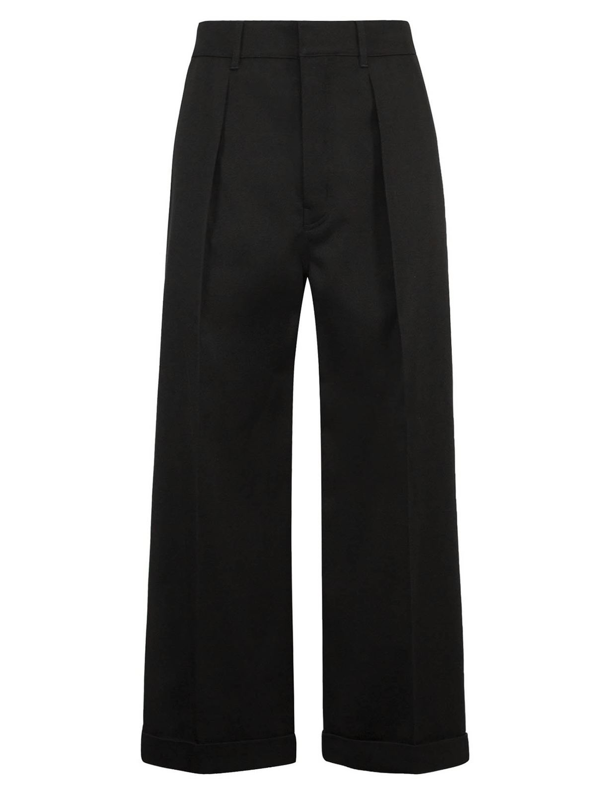 LOEWE CROPPED PANTS IN BLACK