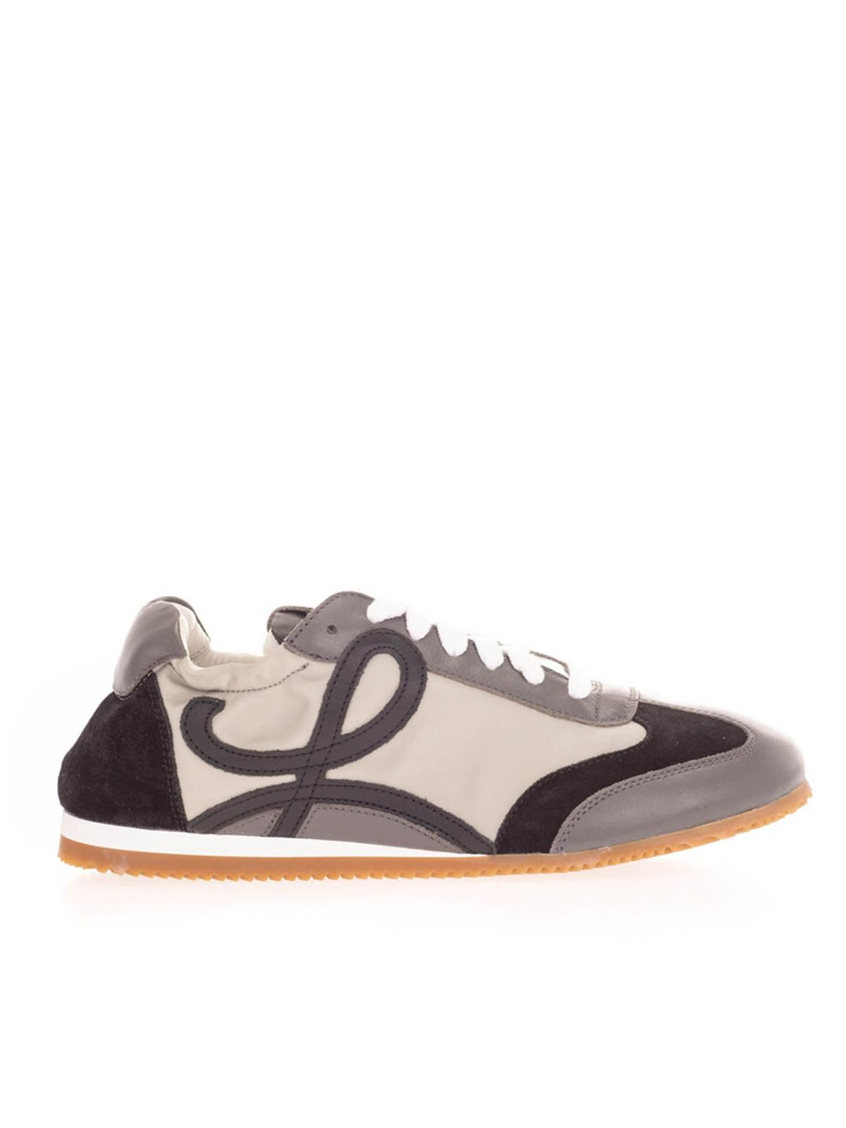 Loewe Sneakers BALLET RUNNER SNEAKERS IN WHITE AND GRAY