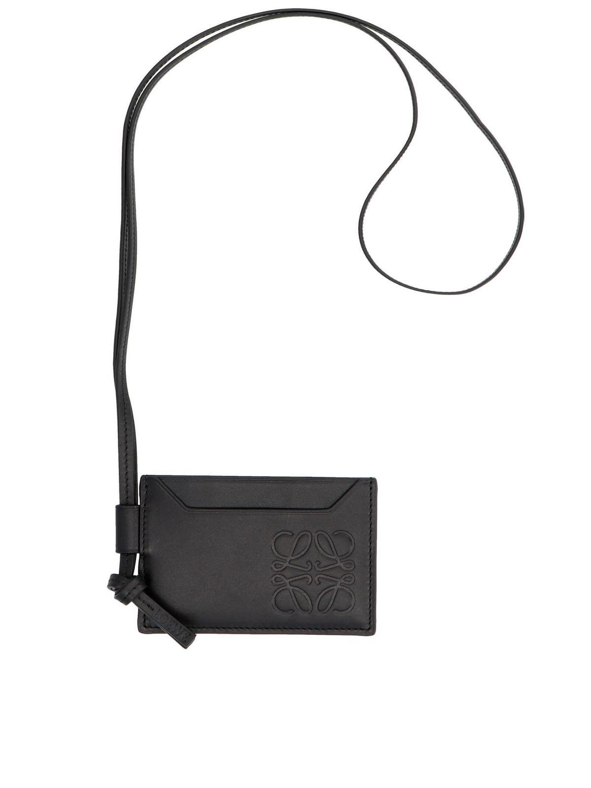 Loewe LACE CARD HOLDER IN BLACK