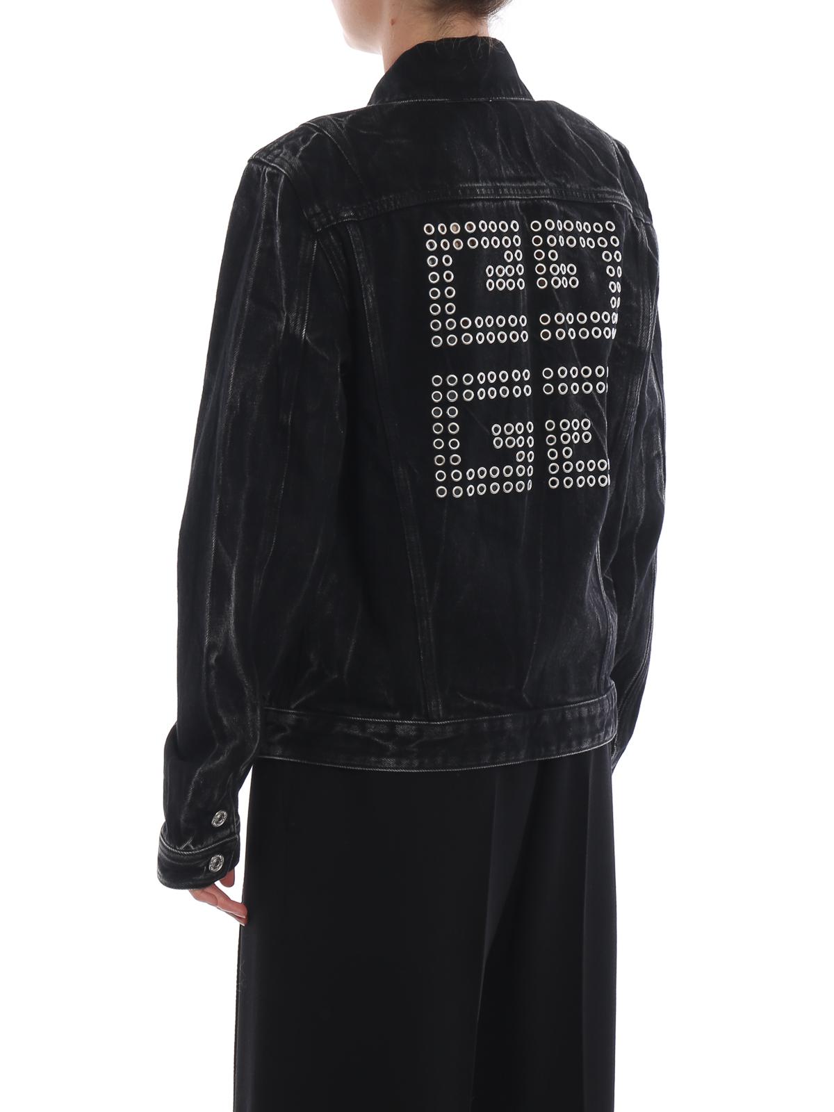 Chaquetas Denim Chaqueta Givenchy Vaquera Bw306h5049001 Negro TSwqvHT8nY