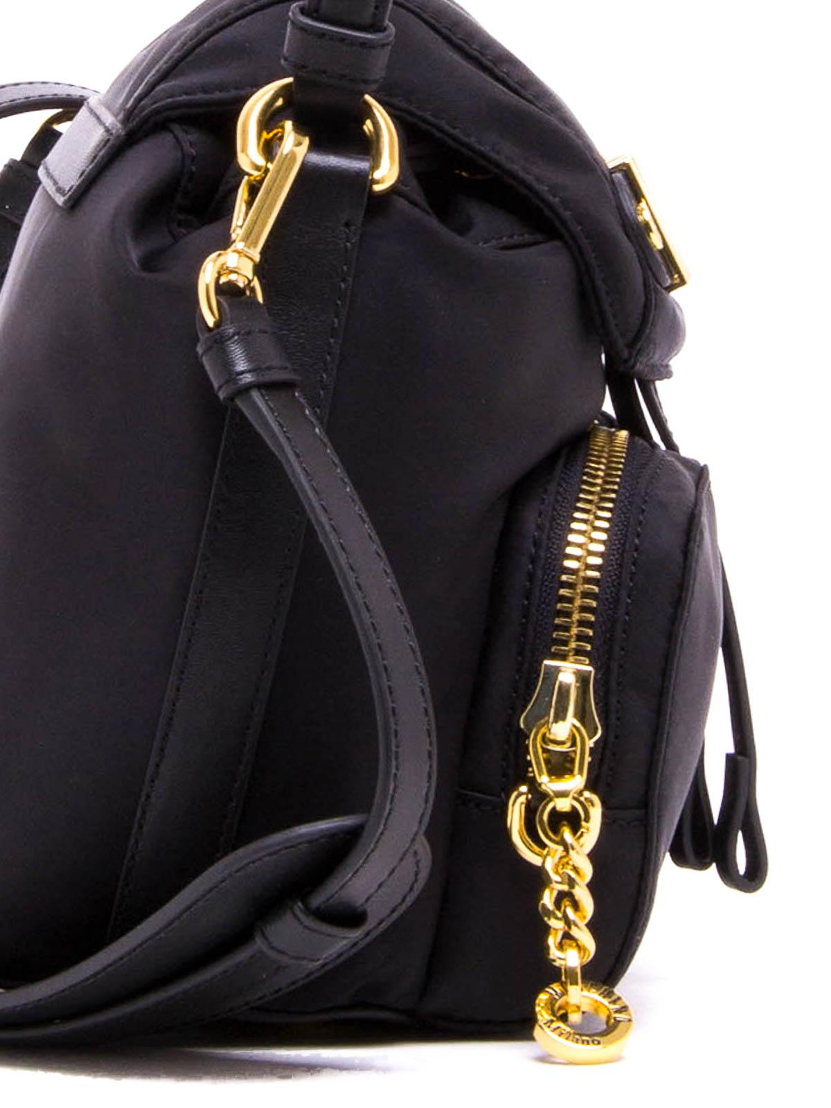 7b4e4913ac Logo lettering nylon crossbody shop online: MOSCHINO. MOSCHINO: cross body  bags ...