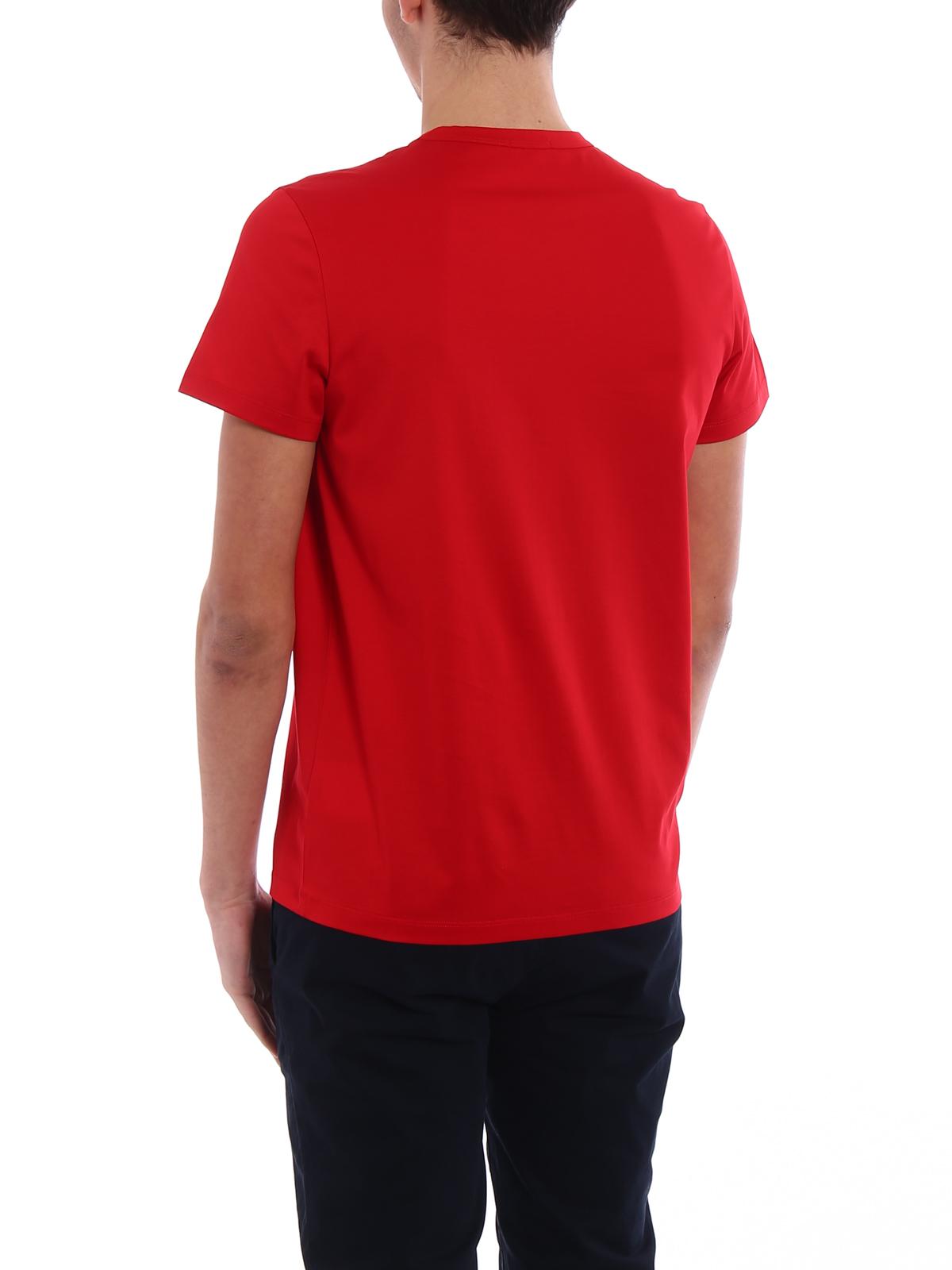 df53a94f01da Moncler - Logo patch red cotton T-shirt - t-shirts - D1 091 8032500 ...