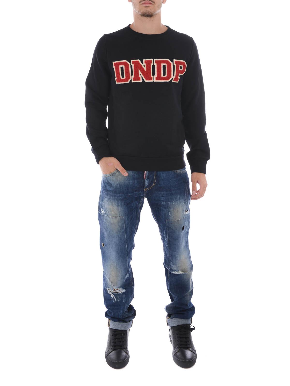999 Logo E Dondup Felpa Maglie Applicato Con Kf136u Felpe F482 1q1zrEwU7