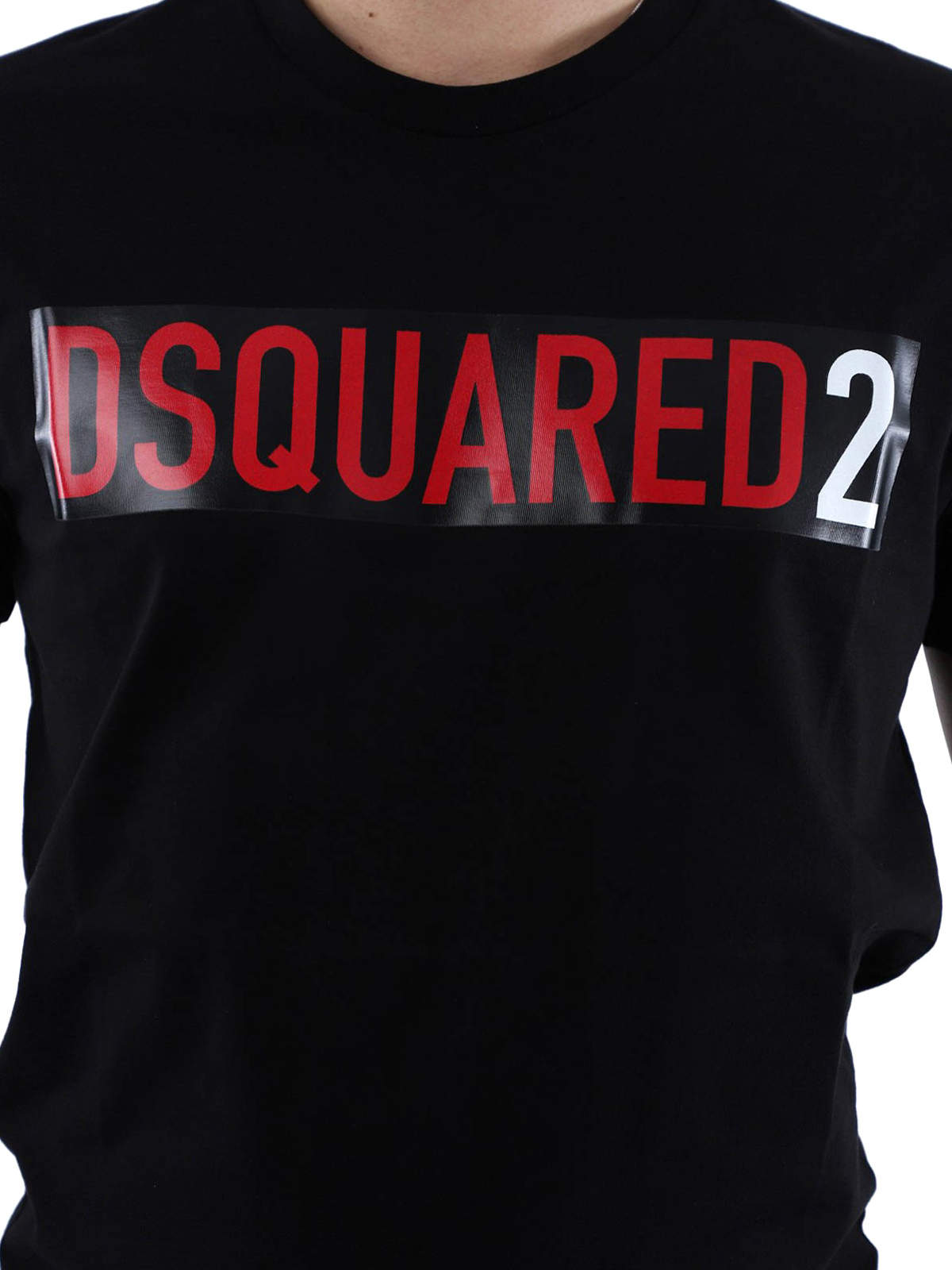 Dsquared2 T shirt Logo Con A Stampe Nera Contrasto W9HIe2EDY