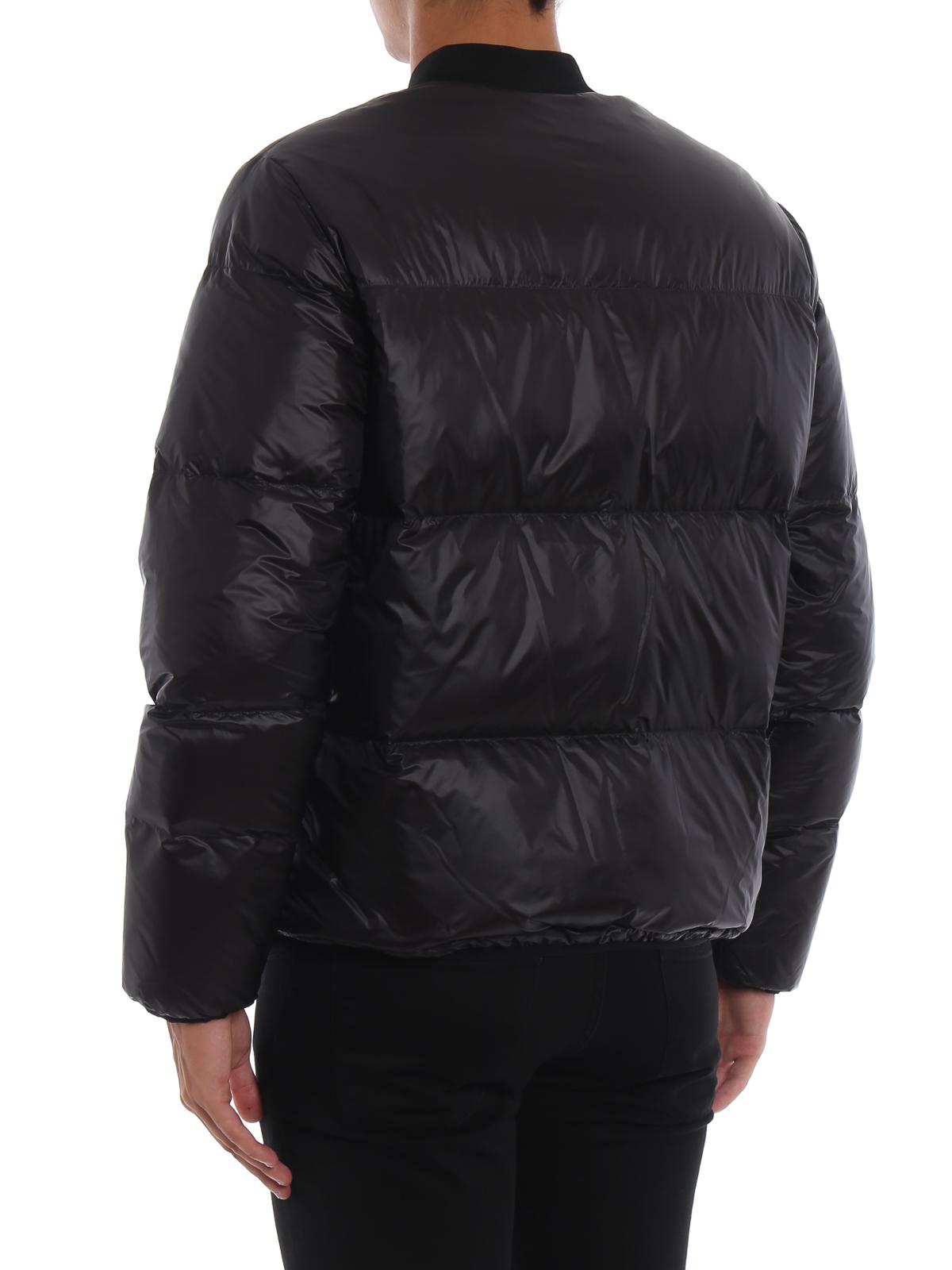 Dsquared2 - Piumino stile bomber in nylon nero con logo - giacche ... 4c5acfa32968