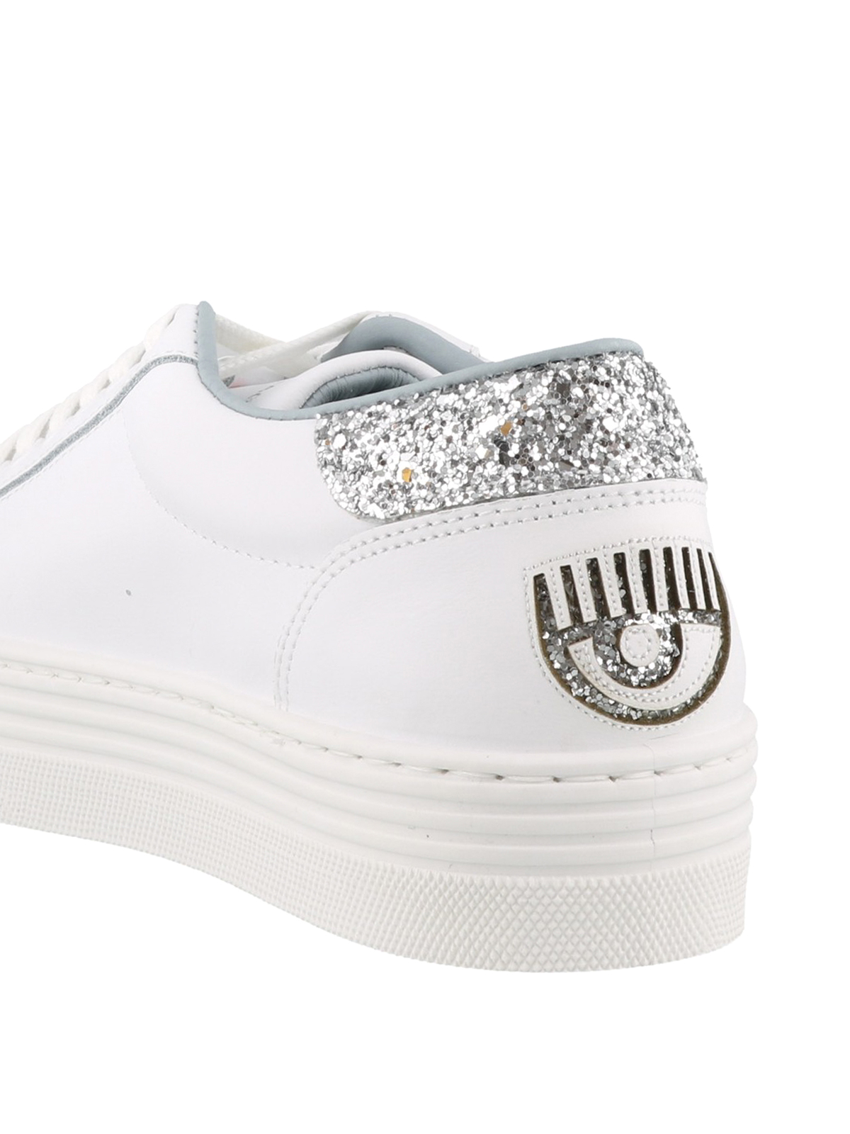 separation shoes 7551d c74fa Chiara Ferragni - Logomania white sneakers - trainers ...