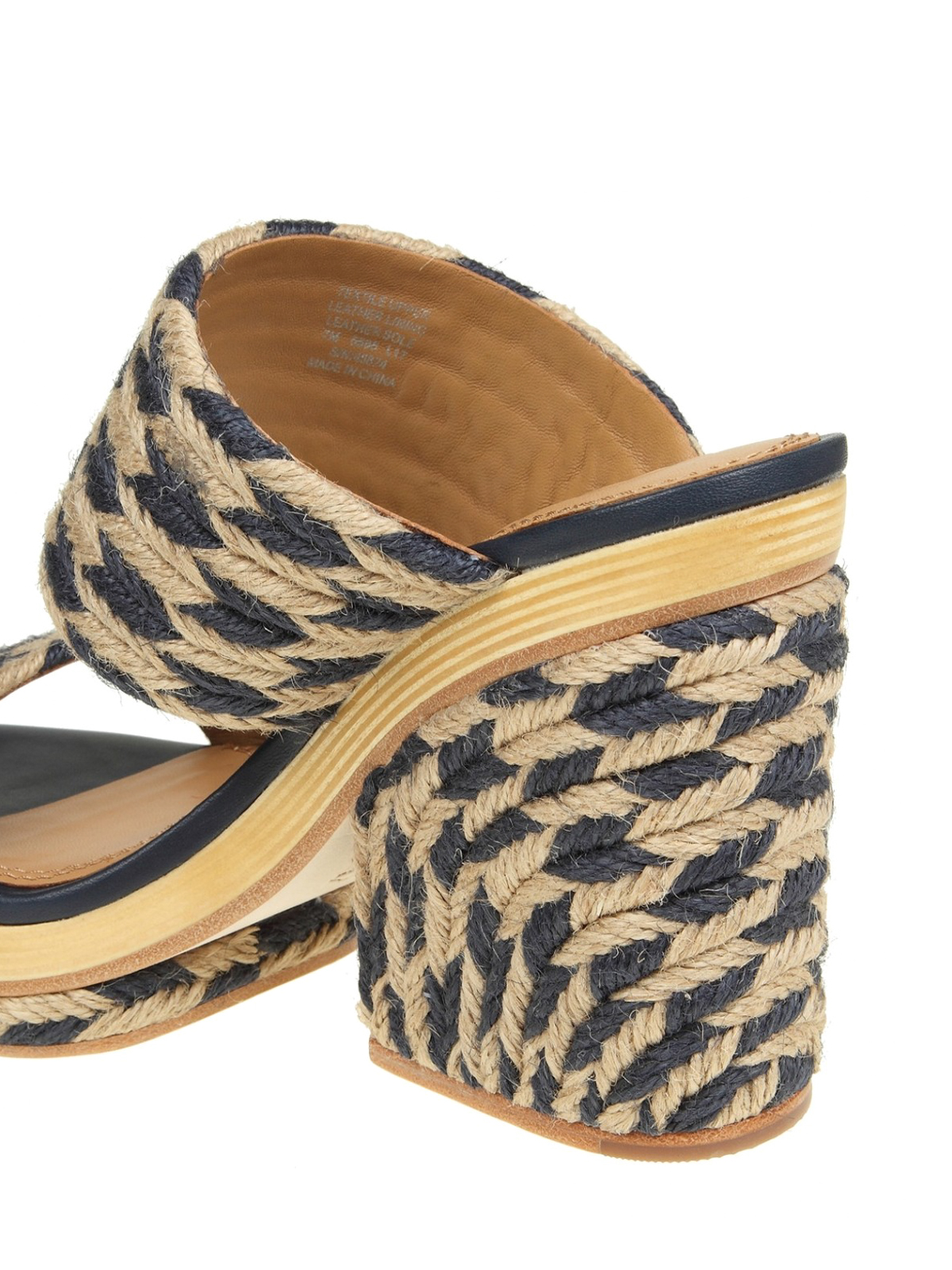 6dba186af618 Tory Burch - Lola Slide navy jute heeled sandals - sandals - 45874444