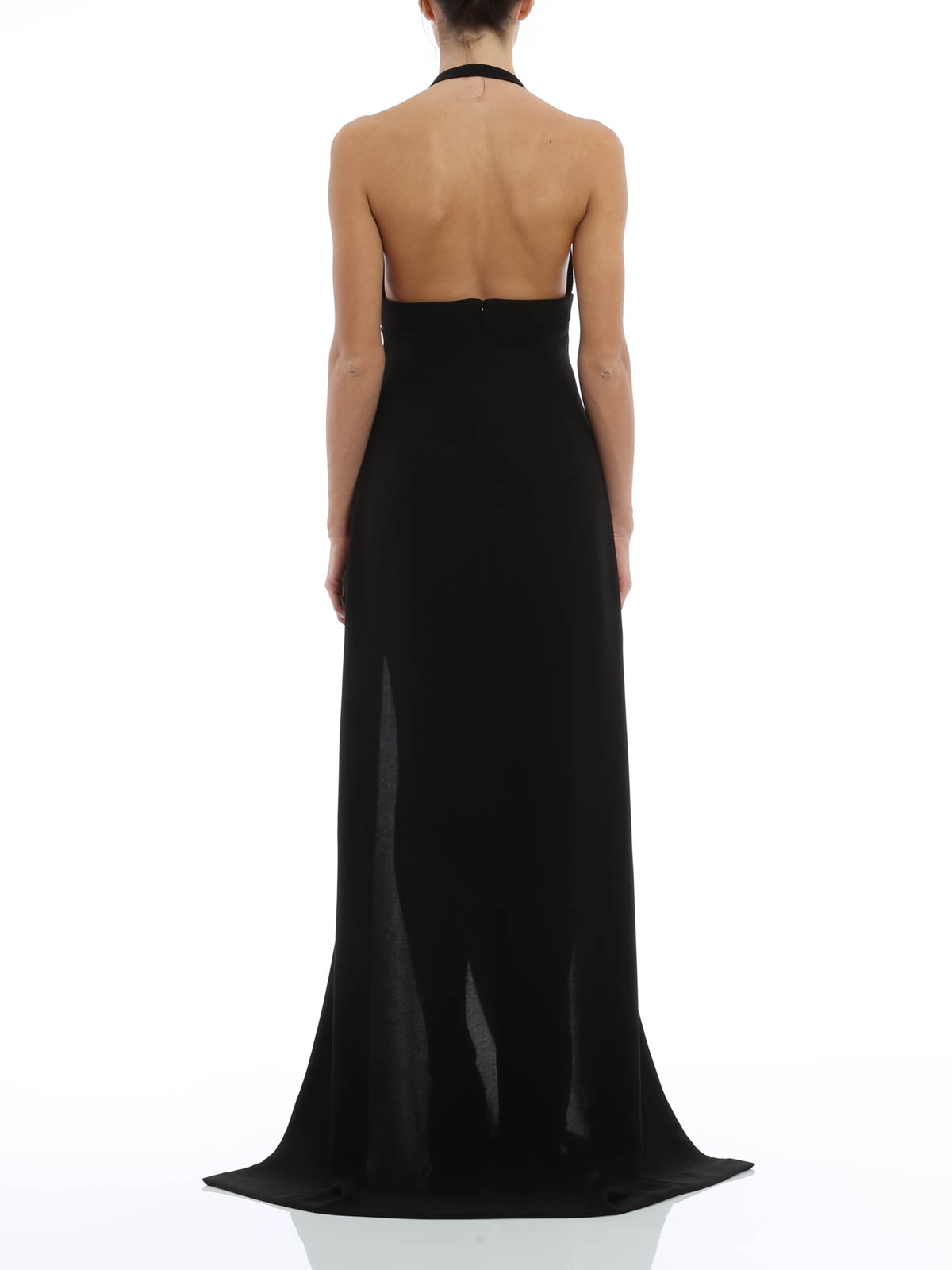 Versus Versace - Long dress with lace inserts - evening dresses ...