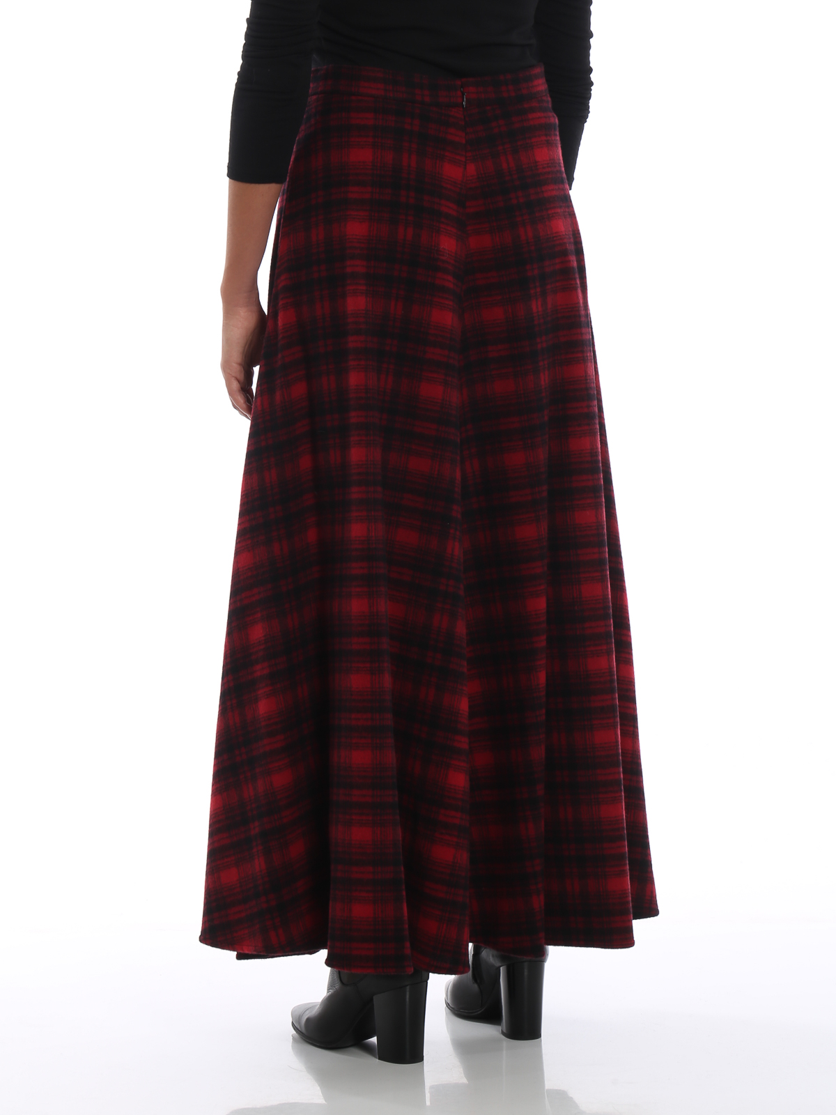 info for 96de0 1c6fd Woolrich - Gonna lunga e ampia in lana a quadri - Gonne ...