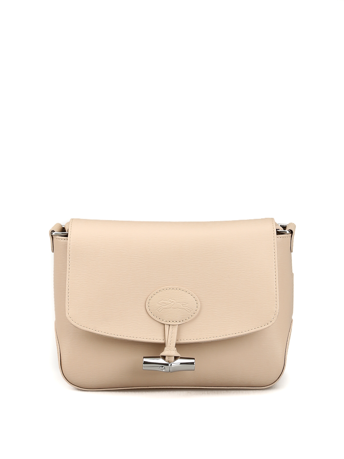 Longchamp - Roseau ivory leather cross body bag - cross body bags ...