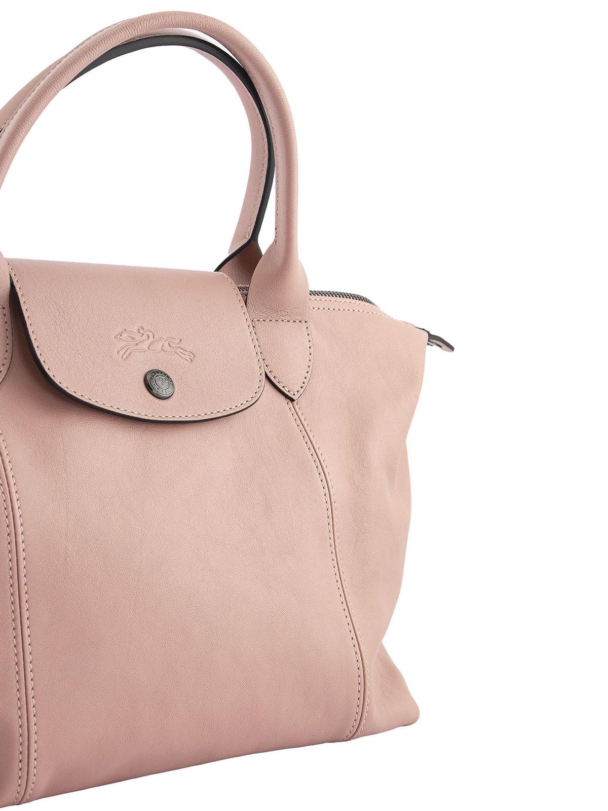 Longchamp - Le Pliage Cuir small leather bag - shoulder bags ...