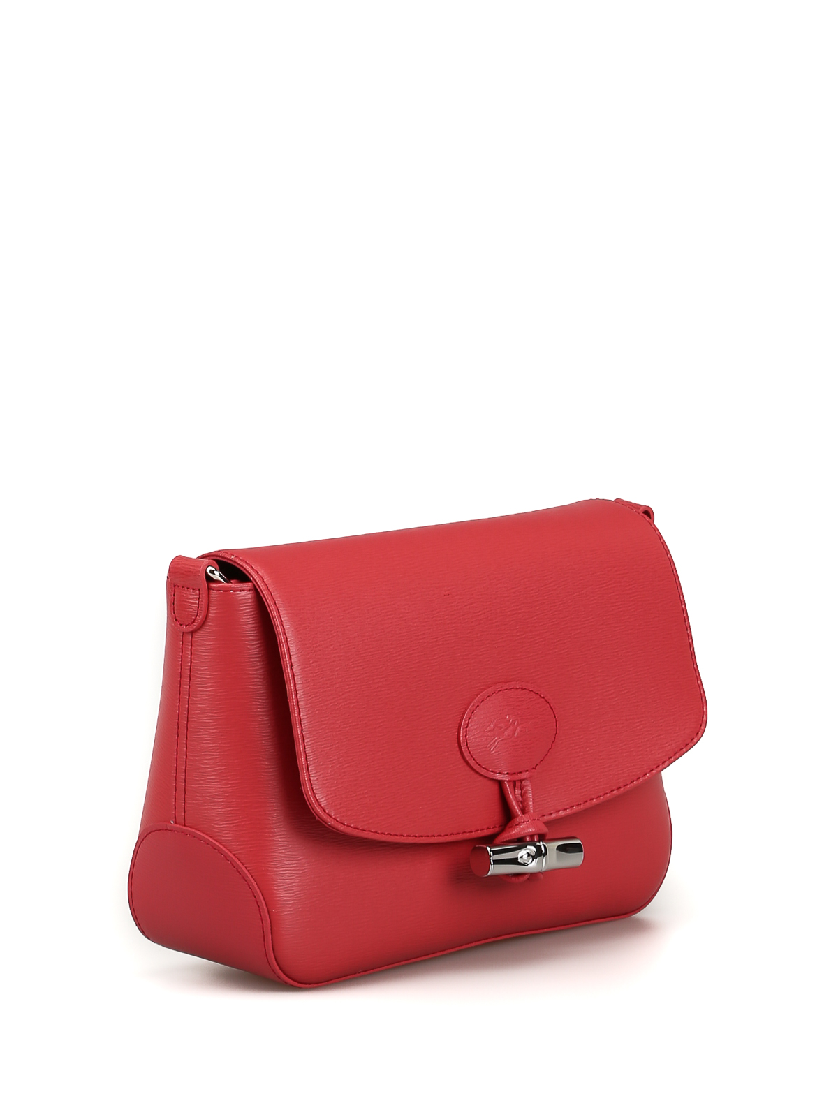 Longchamp - Roseau red leather cross body bag - cross body bags ...