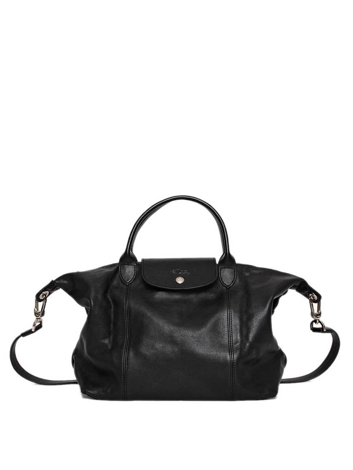 Longchamp - Le Pliage Cuir large hand bag - totes bags - 1515737001 bc9134d0c6a5b