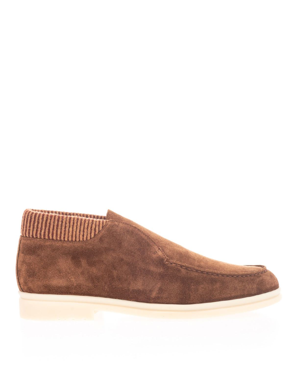 Loro Piana WOOL DETAILS LOAFERS IN BROWN