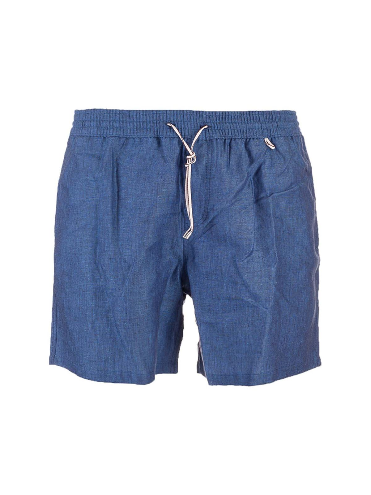 Loro Piana Linens SWIM SHORTS IN SEA SURFACE COLOR