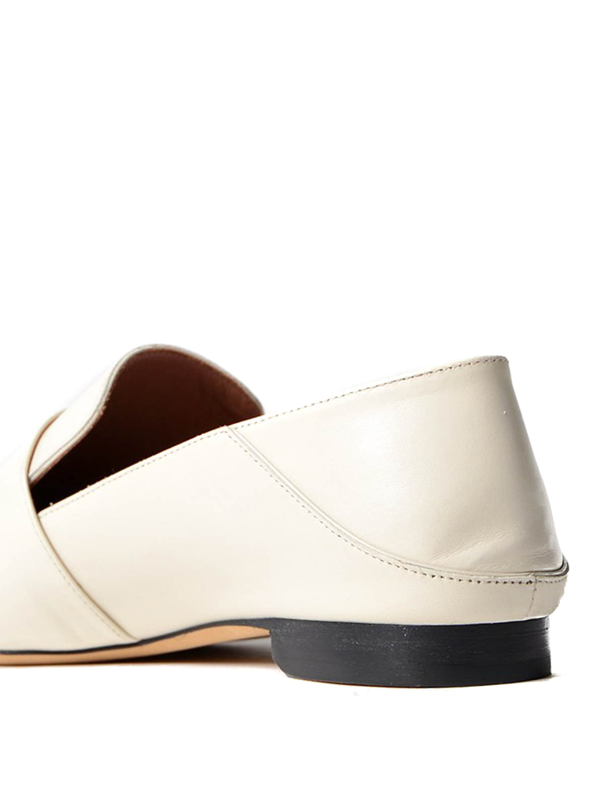 Bally - Lottie white leather loafers - Loafers & Slippers