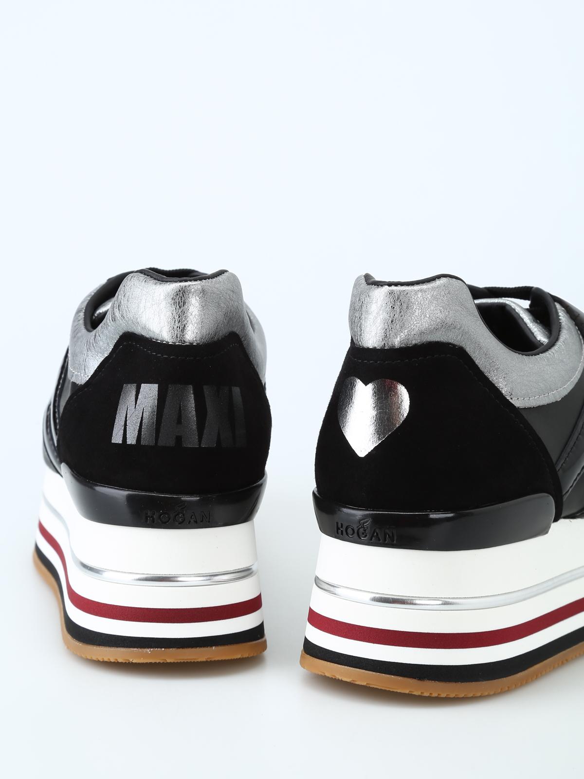 Trainers Hogan - Love black leather maxi platform sneakers ...