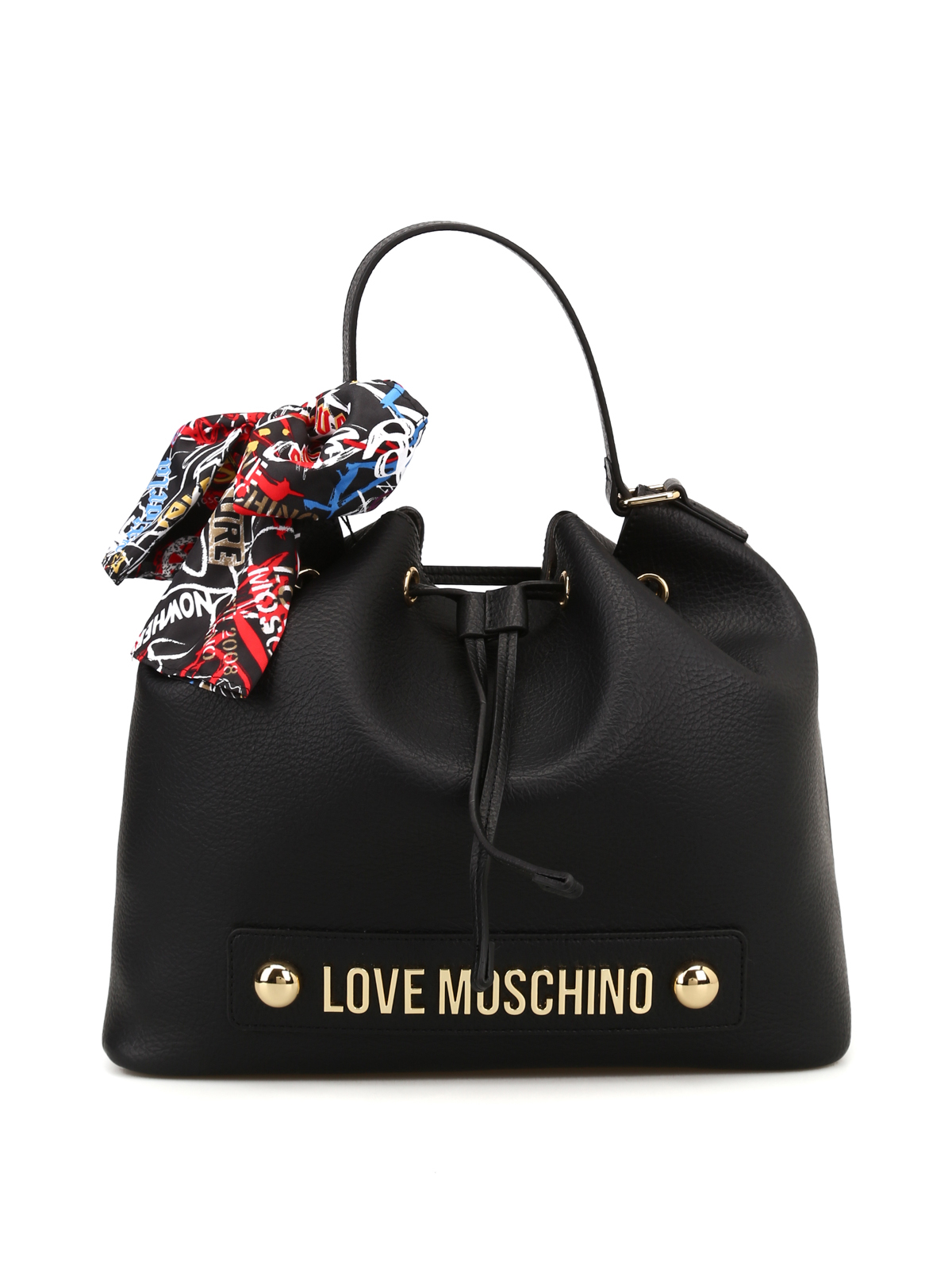 40e69b384 Love Moschino - Faux leather scarf bucket bag - Bucket bags ...