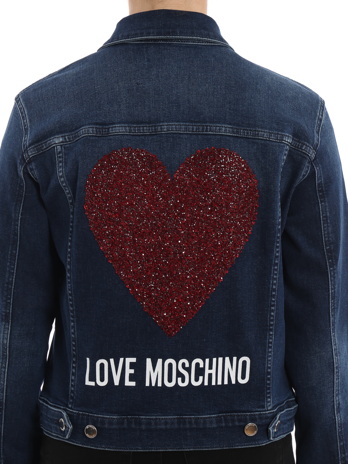 giacca jeans moschino