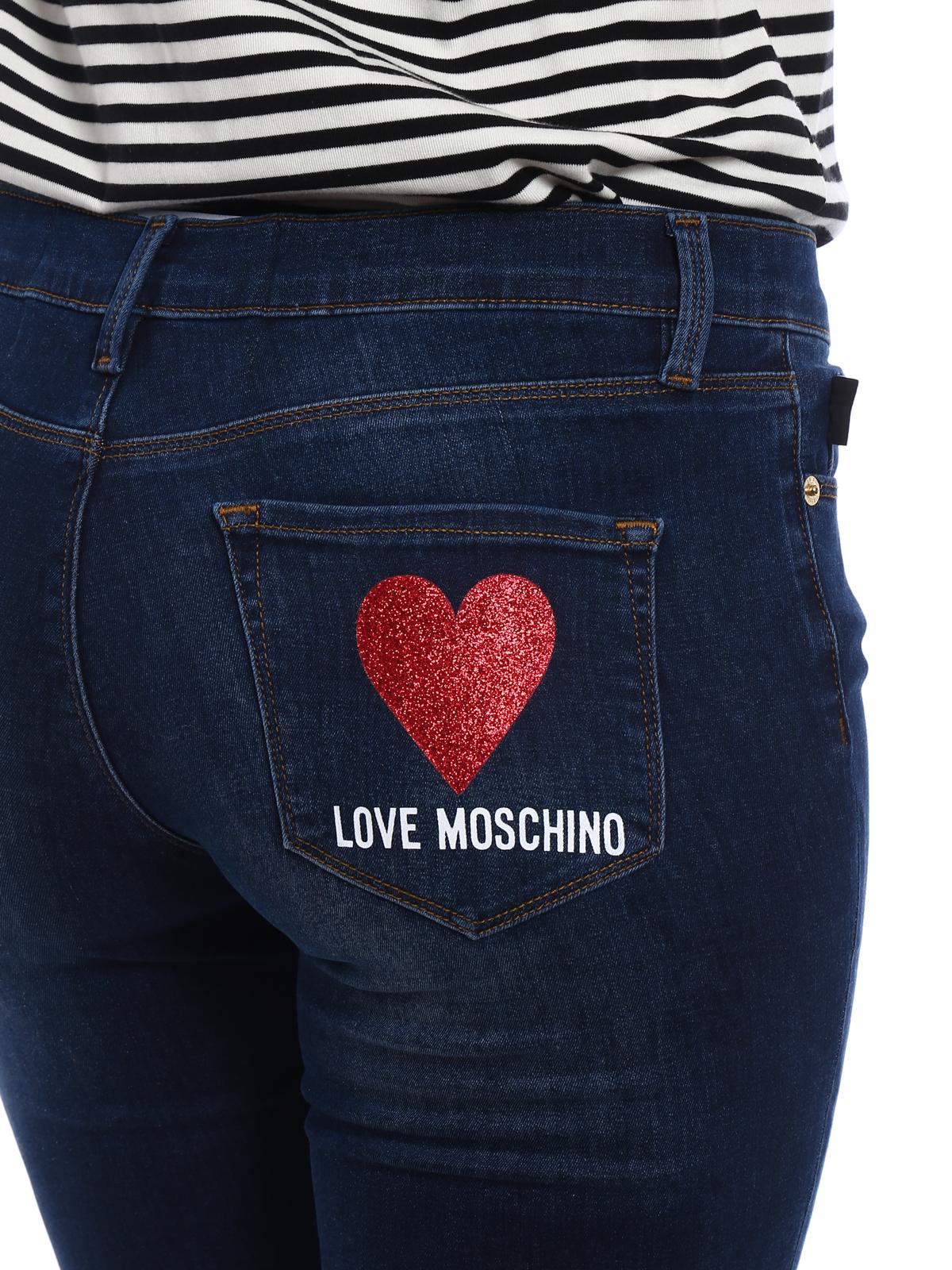 4cbd1bf096 Love Moschino - Stretch denim flared crop jeans - flared jeans ...