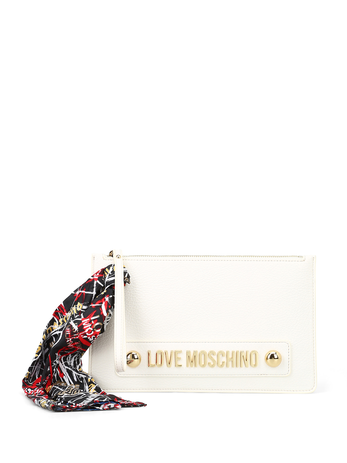 Pochette di Love Moschino multicolore con base rossa