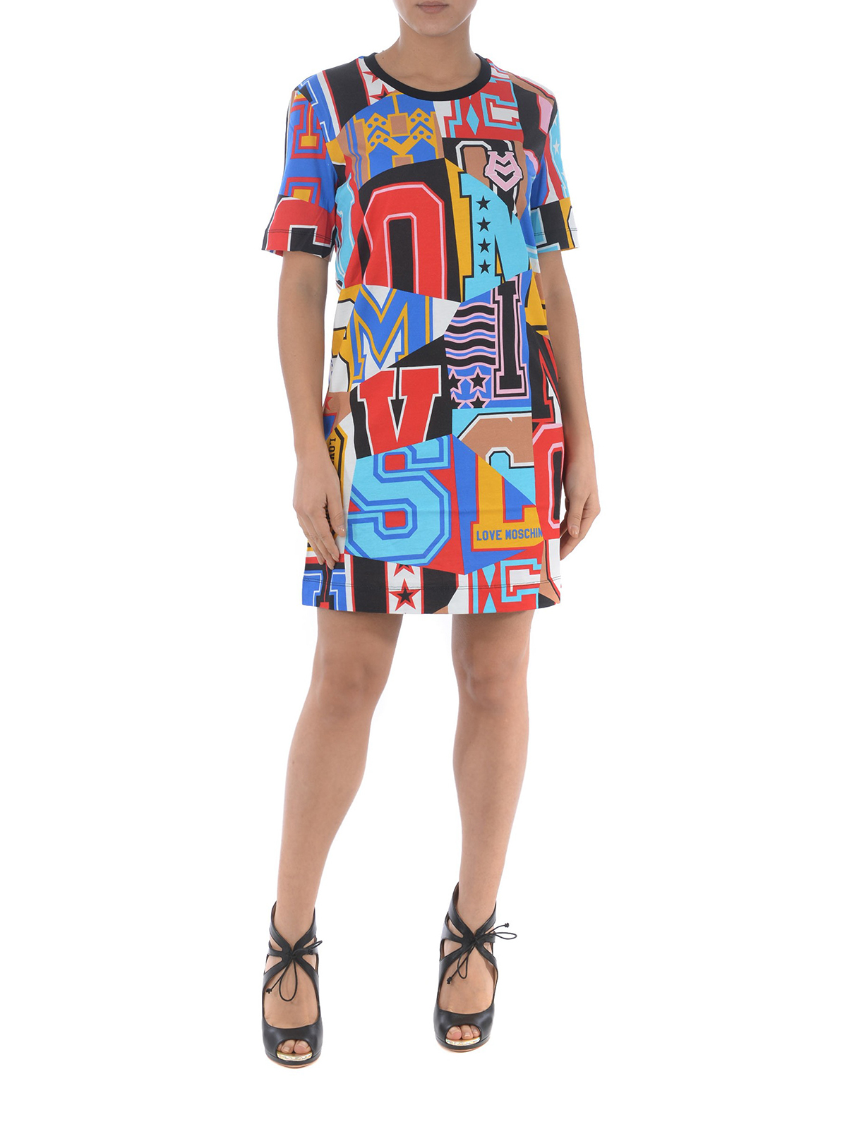 Courte Robes Robe Courtes W5a02 Love Moschino Multicolore rxEBoeCdWQ